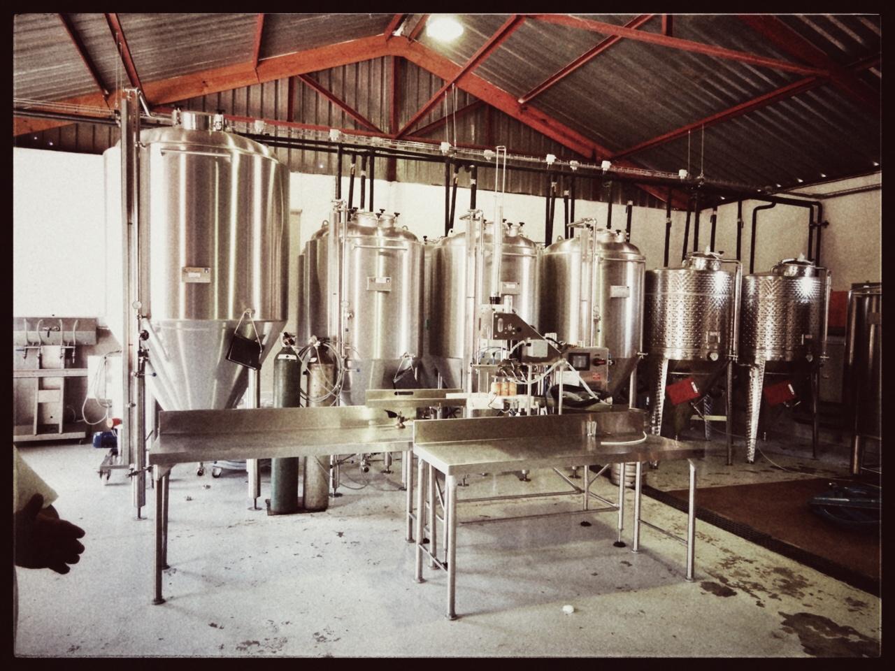 bezoek aan de microbrouwerij 'Saggy Stone' in de omgeving van Robertson.