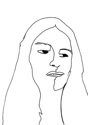 Clare drawing Javiera