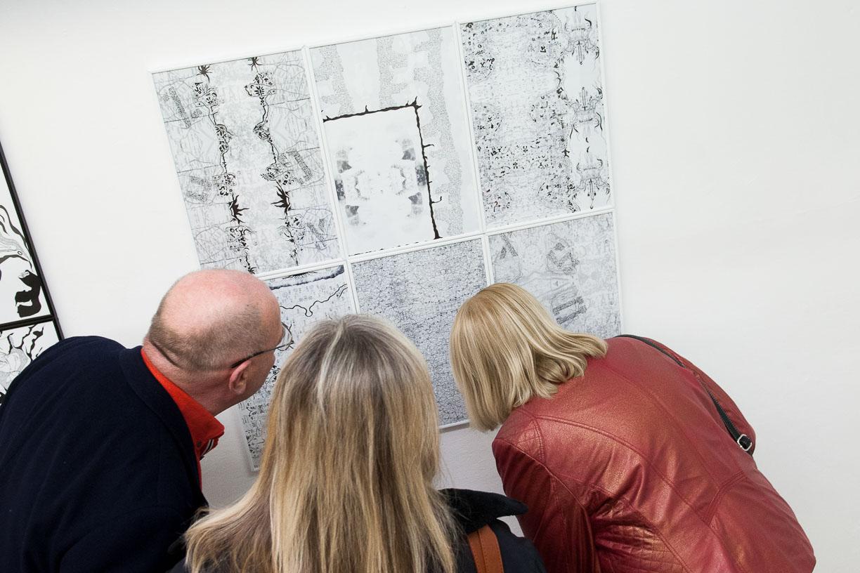 At the opening, Städtische Galerie Reutlingen, 2016, Artwork: Maggie Mc Cormick.