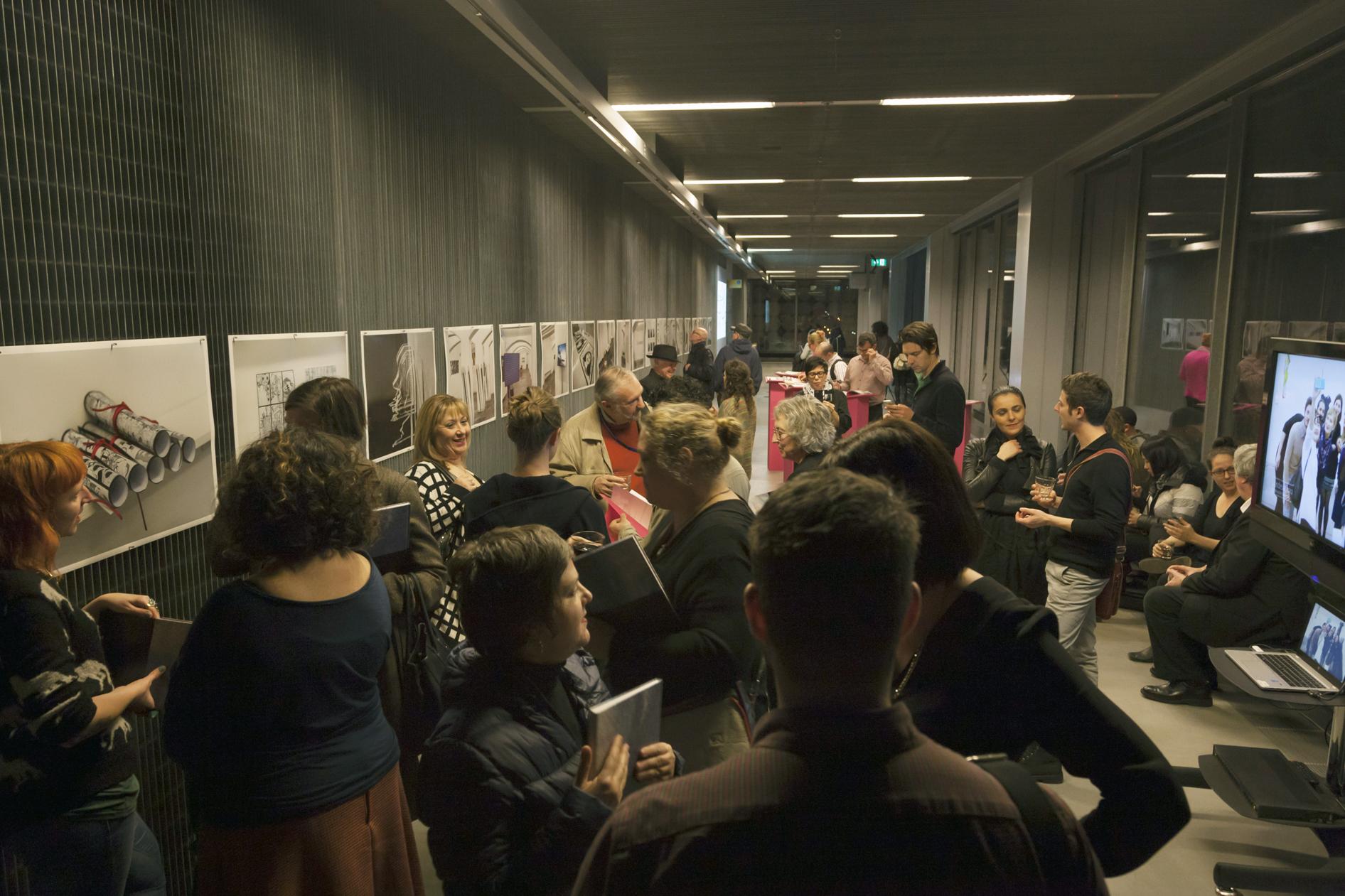 Book Launch , Melbourne Australia. RMIT University, Design Hub. Photographer credit Kate Mollison.