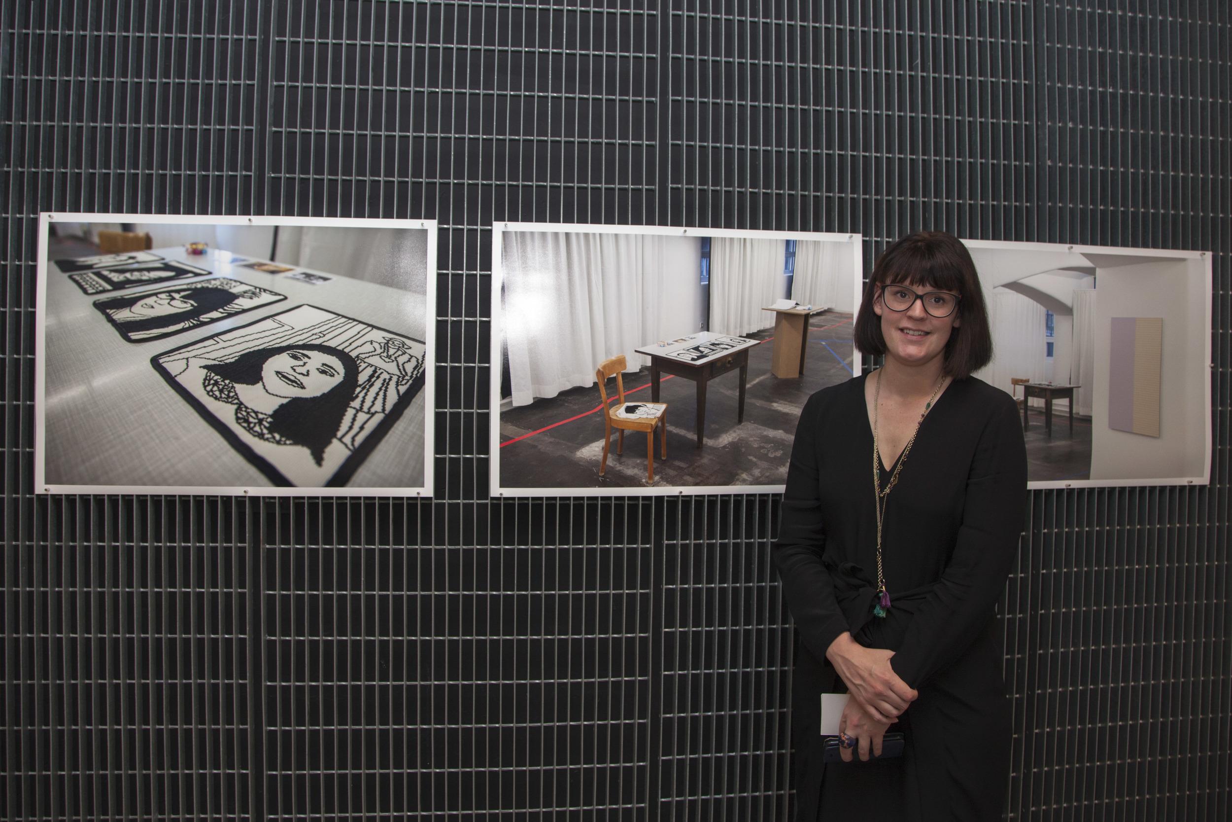 Clare McCracken at the book launch, June 15, 2016, Melbourne Australia, RMIT University, photo: Kate Mollison