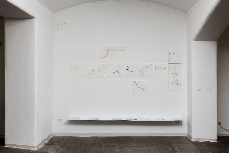 Javiera Advis, WALK THE LINE, 2016, at the Städtische Galerie Reutlingen, 2016, Photo: Karl Scheuring, Reutlingen