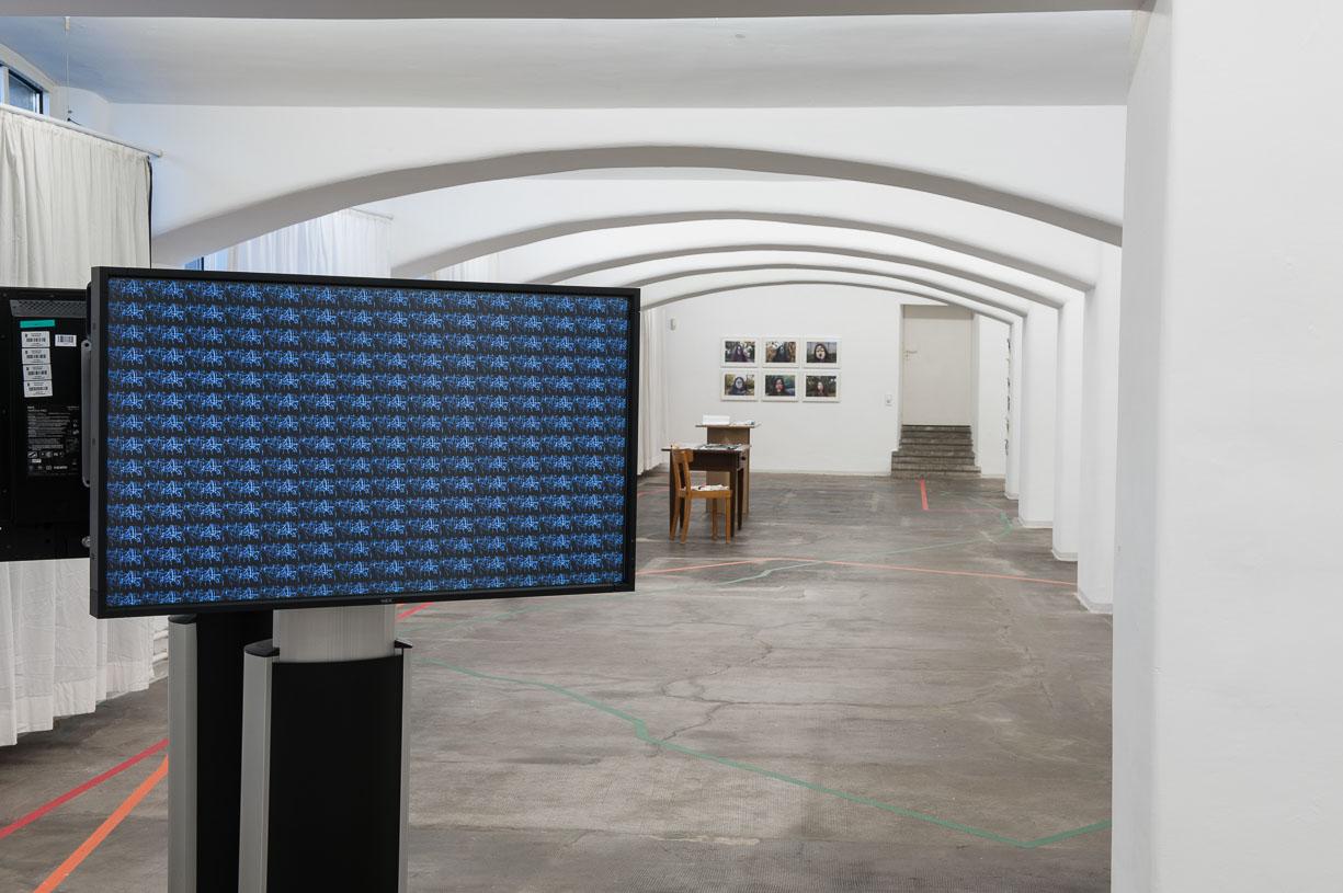 Riza Manalo, Line Dialogue I, 2015, at Städtische Galerie Reutlingen, 2016, Photo: Karl Scheuring, Reutlingen