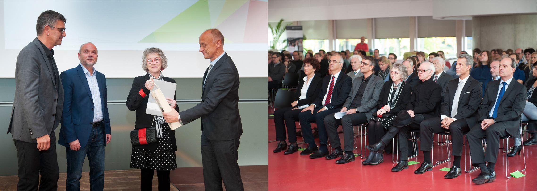 Dr Maggie McCormick receives the award of Honorary Professor at Reutlingen University. Photo credit: Karls Scheuring, Reutlingen/Germany.