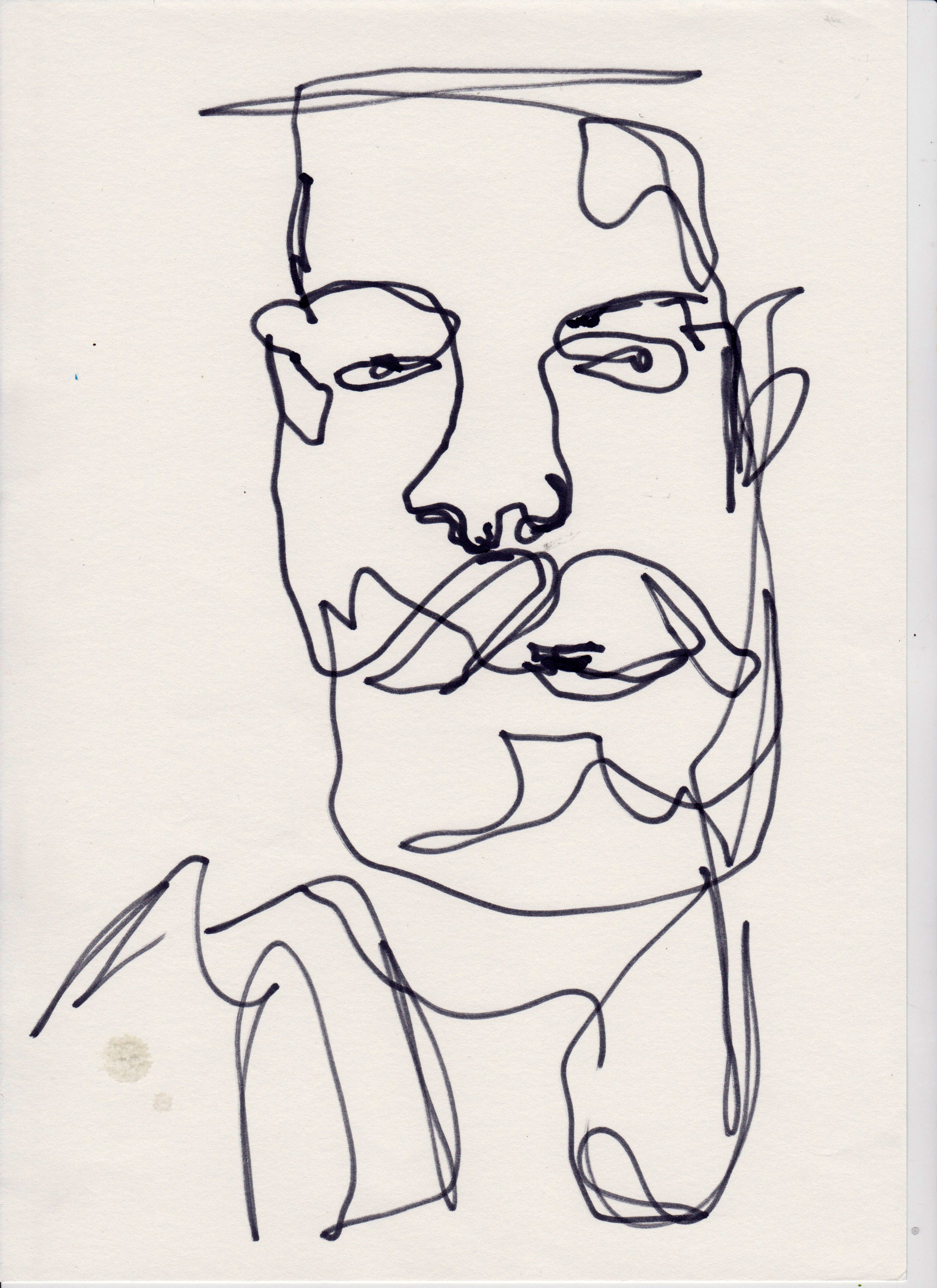 Nadine drawing Handerson, Reutlingen-Rio, 2016