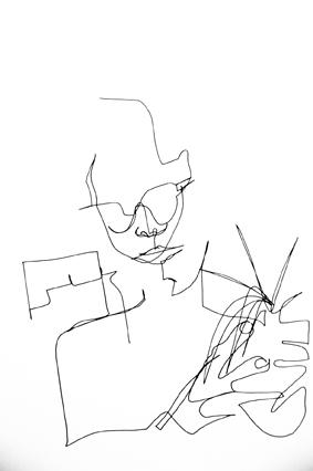 Rodrigo drawing Nanna, Rio-Reutlingen, 2016
