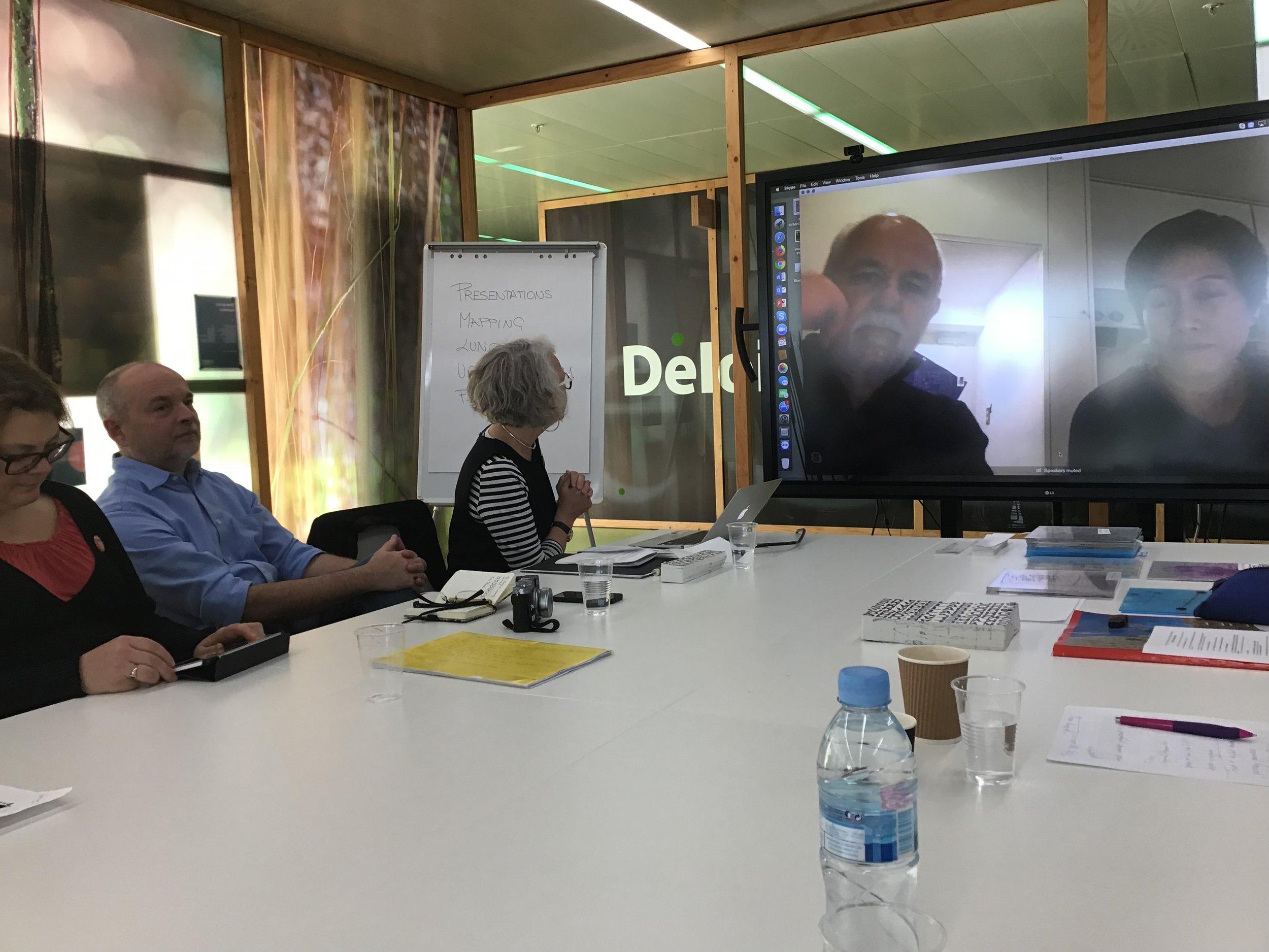 Skype meeting with Darko Radović and Davisi Boontharm in Tokyo, Japan