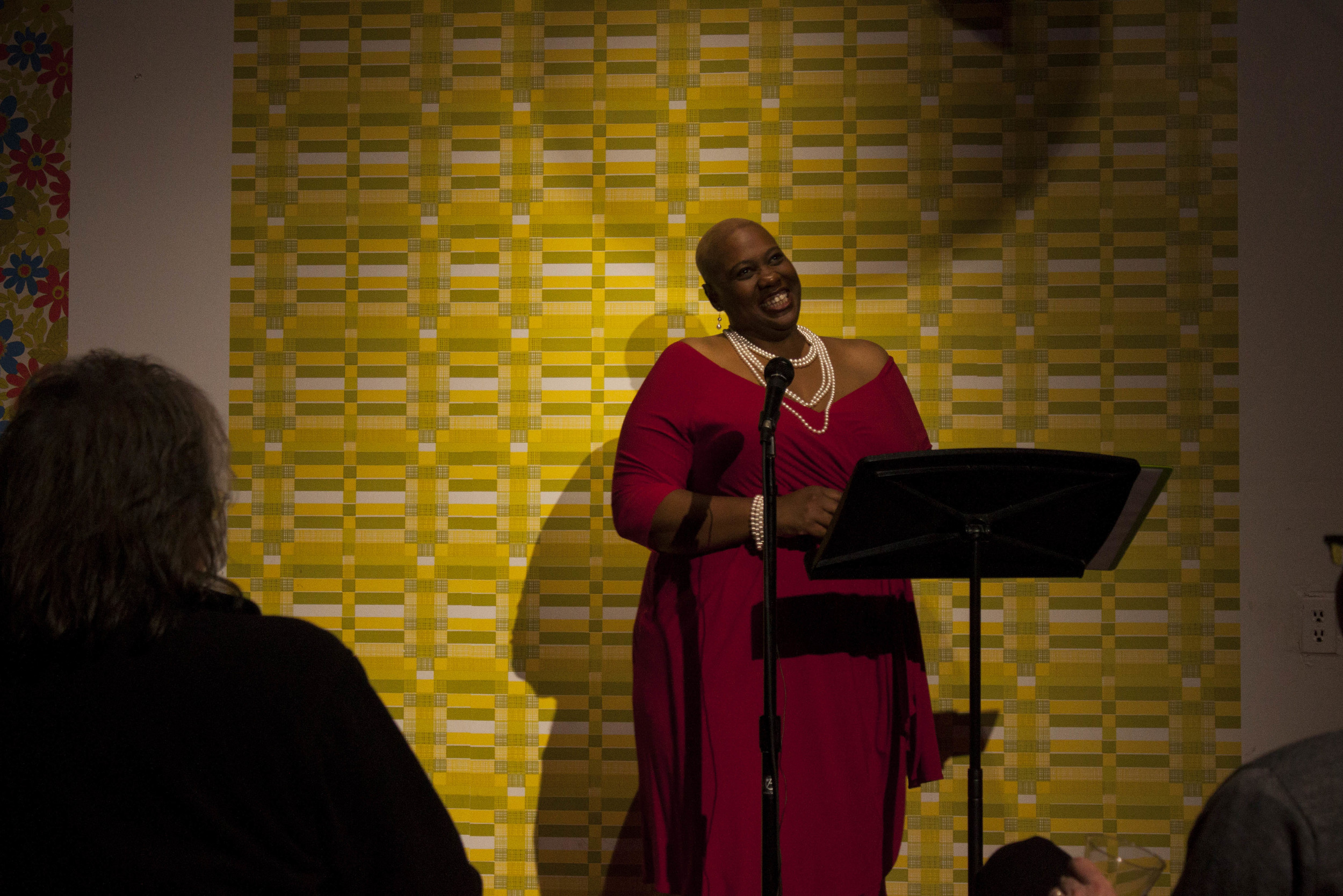 Memphis Monologues highlights the many facets of being a woman. Adriane Williams shares a laugh during her monologue.