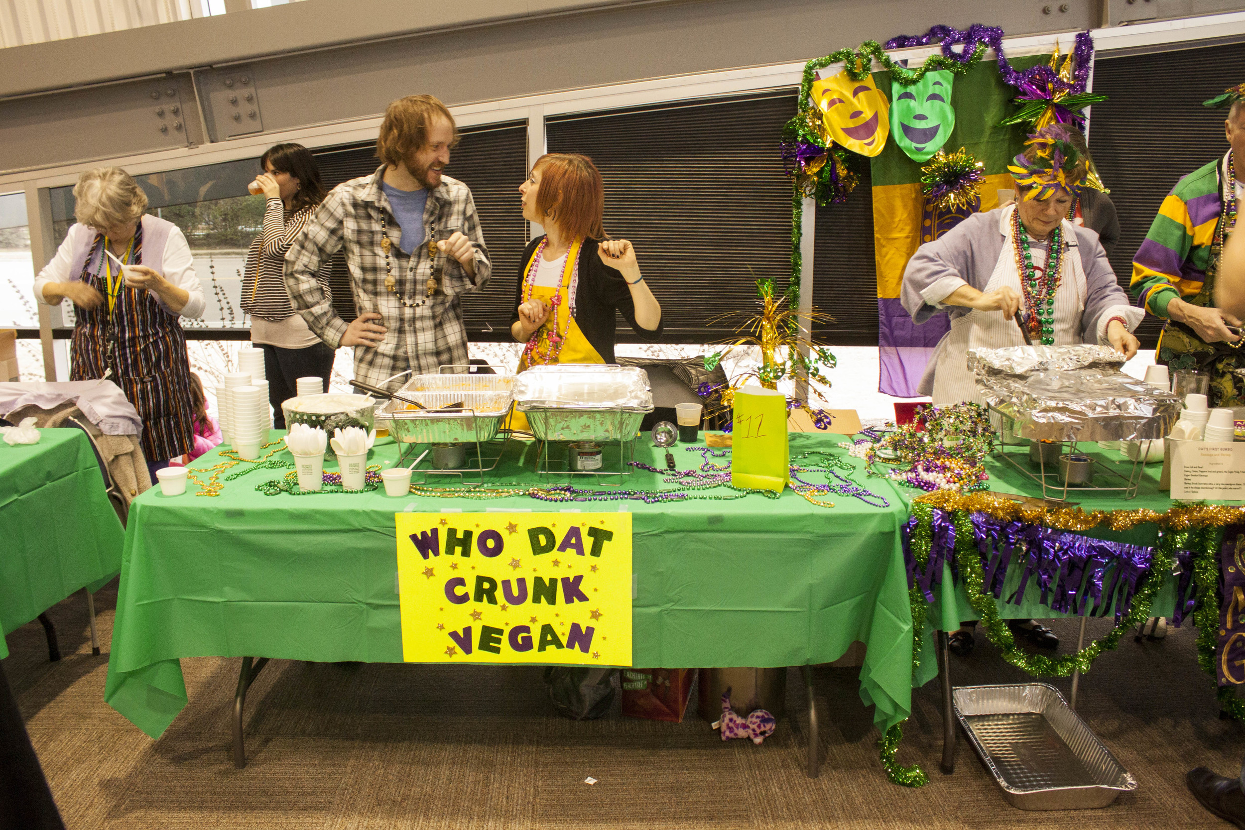 Memphis Flyer Gaydar writer Bianca Phillips competed with a delicious vegan gumbo.