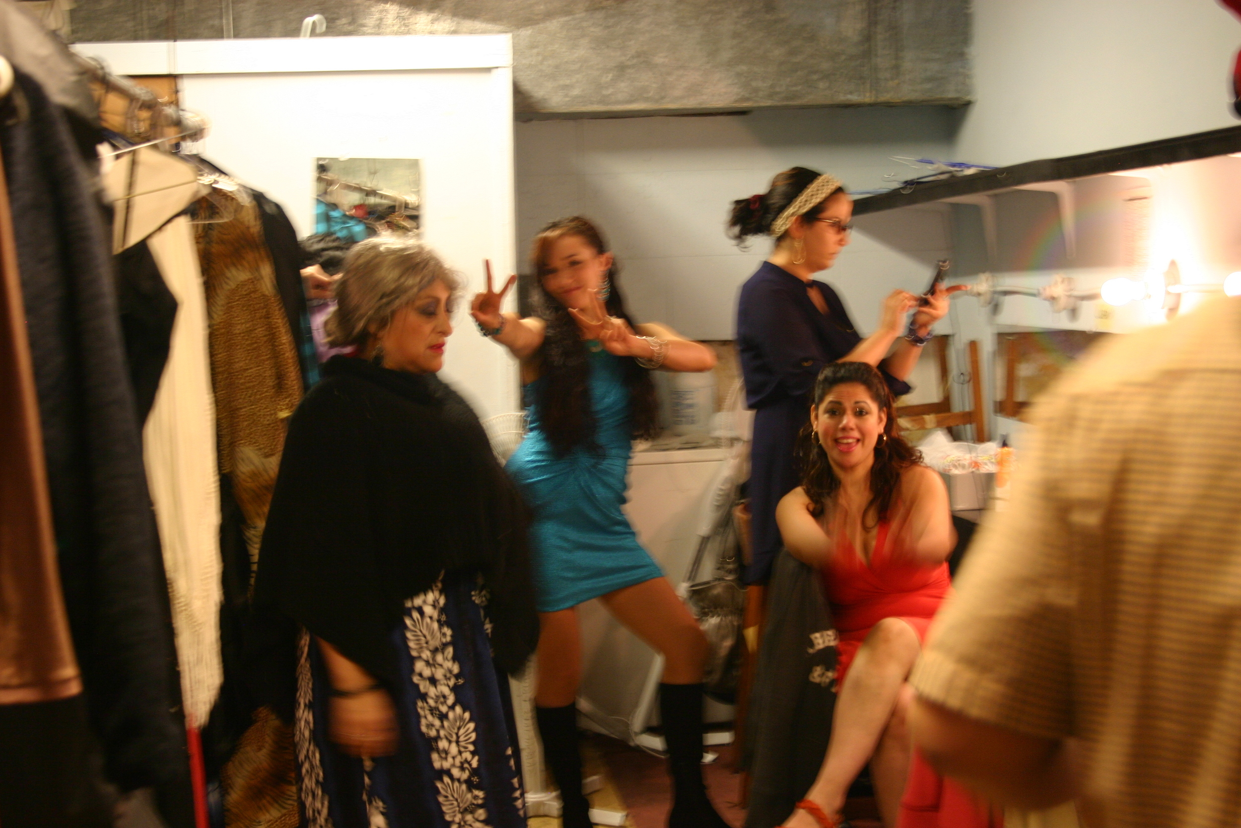 Cast of Caza Teatro backstage atDragNificent Variety Show 2015    Copyright 2015 Out901.com. All rights reserved. This material may not be published, broadcast, rewritten, or redistributed.    Picture by Whitney Hardy