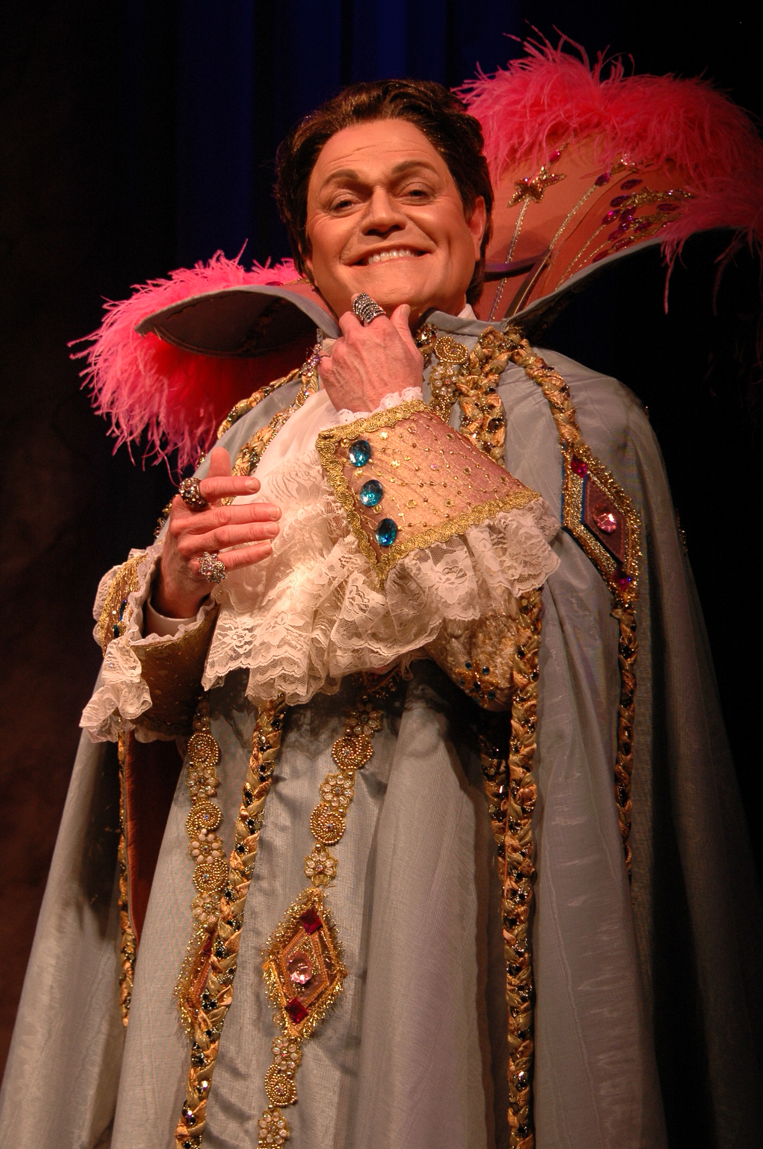Photo by Skip Hooper. Caption: Gary Beard performs   Liberace!  in the Next Stage at Theatre Memphis,September 30 - October 16, 2016.