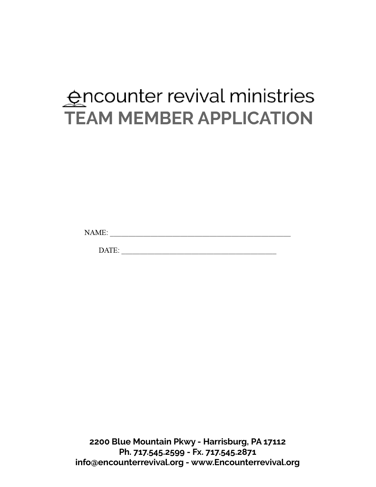 ERM Team Member Application  [PDF]