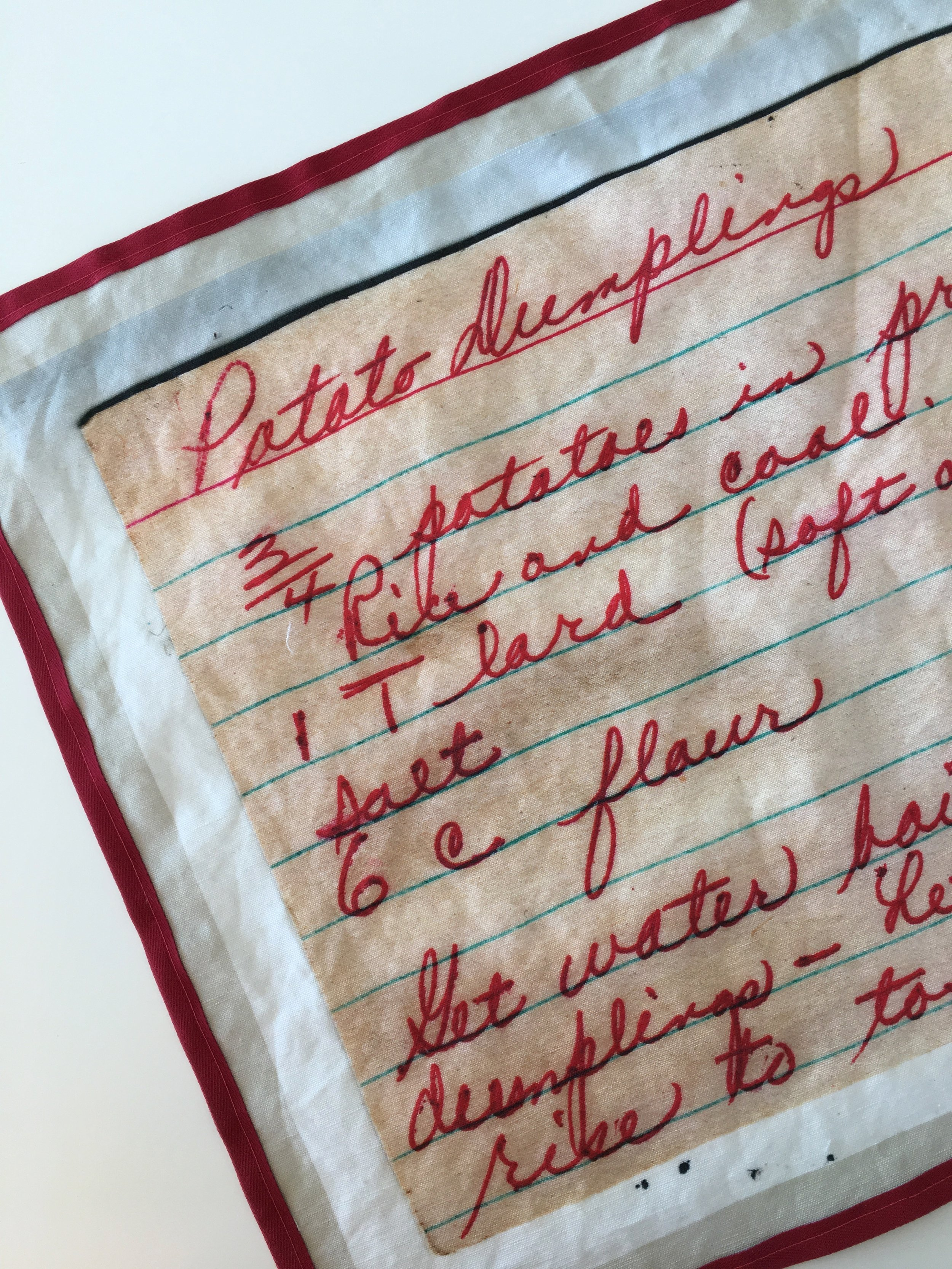 Spoonflower recipe tea towels