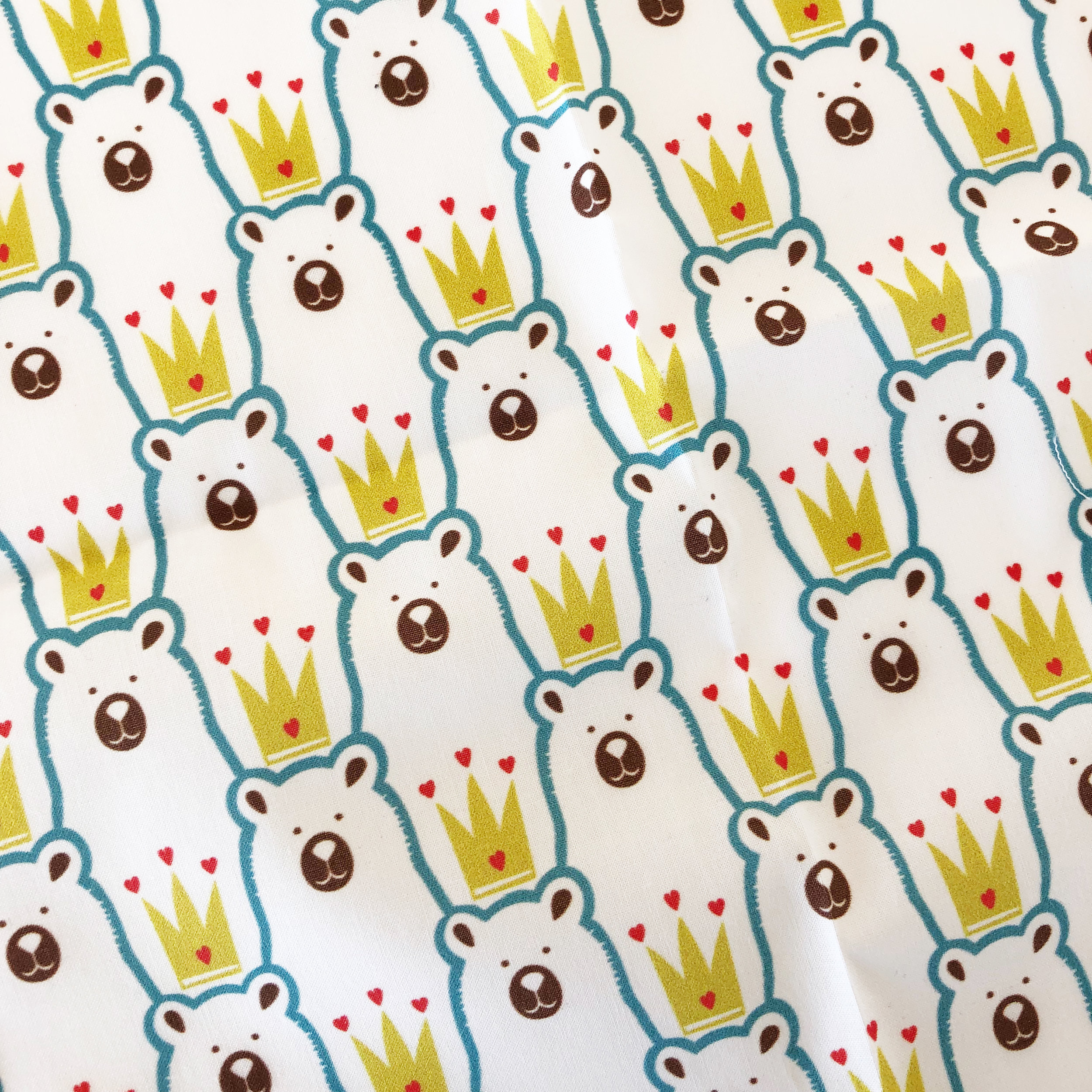 Baby bear fabic on Spoonflower
