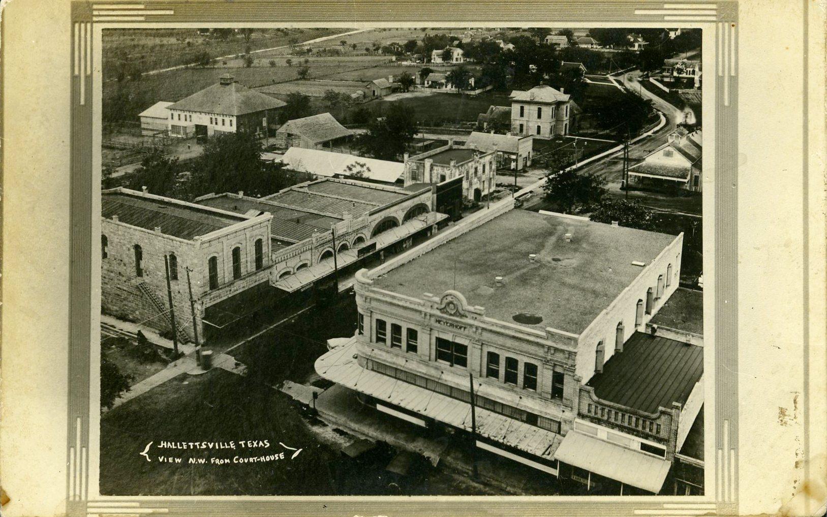 Hallettsville postcard, unknown date