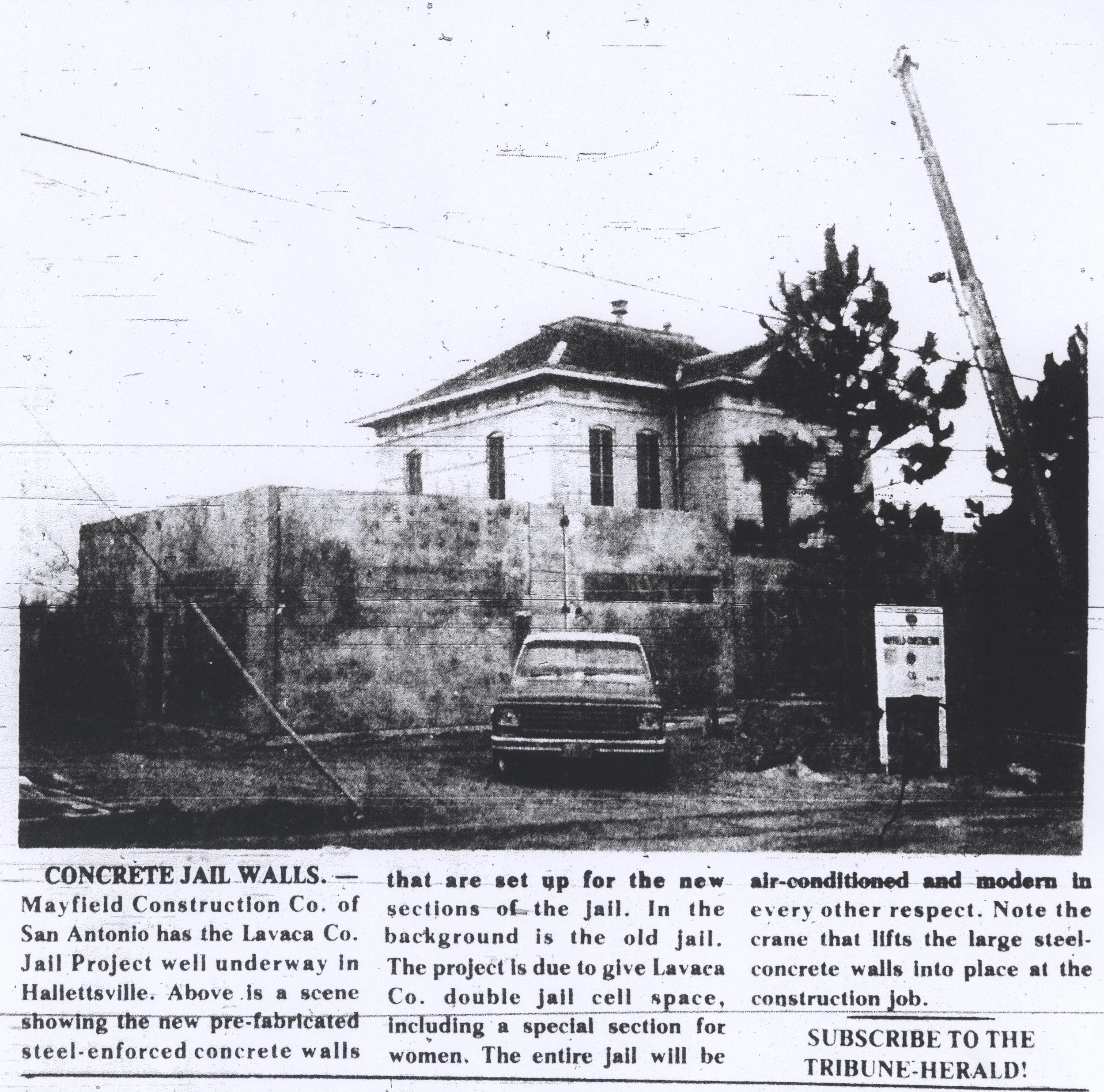 Lavaca County Jail, 1976