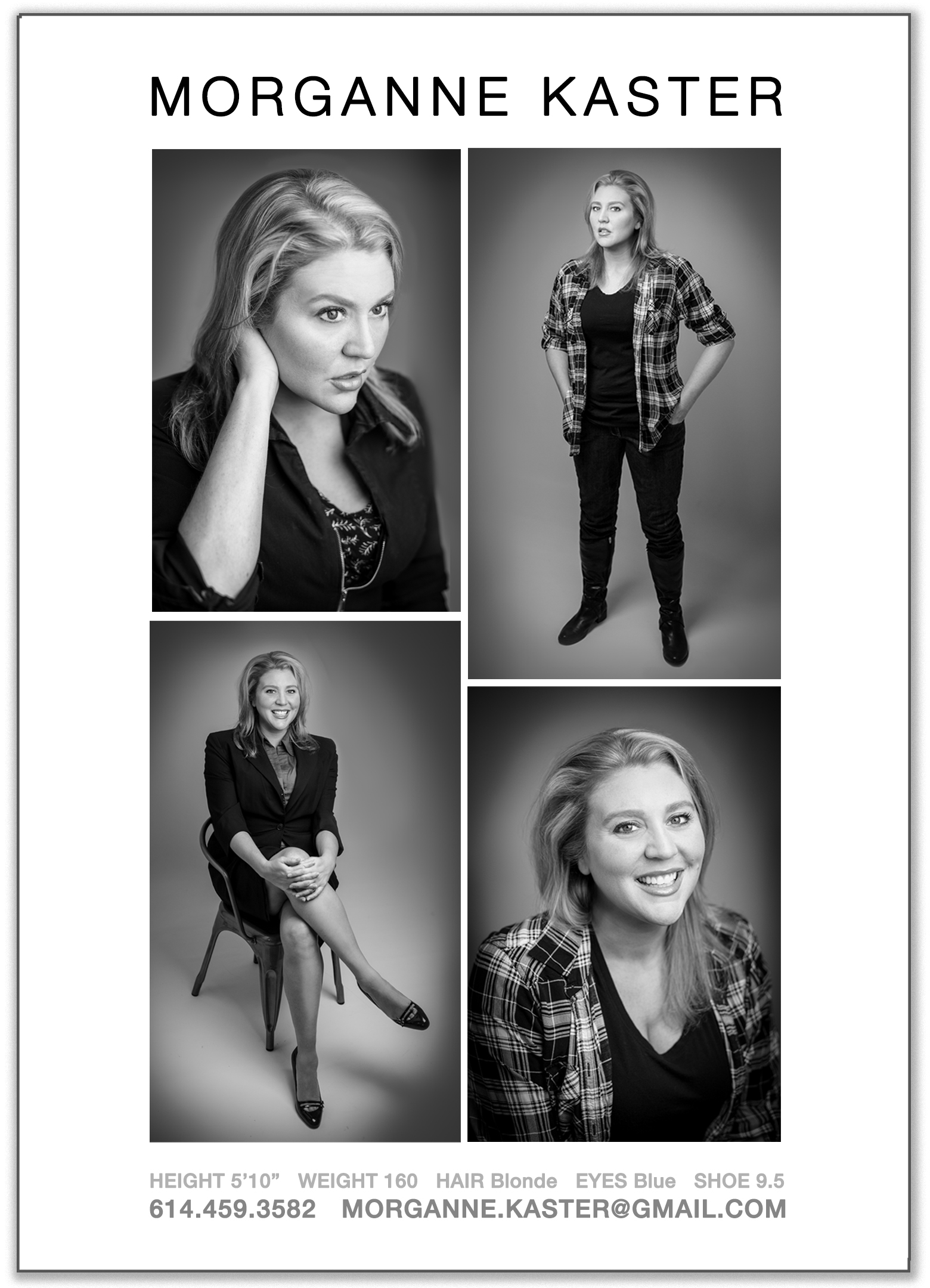 cleveland akron actor headshots comp card