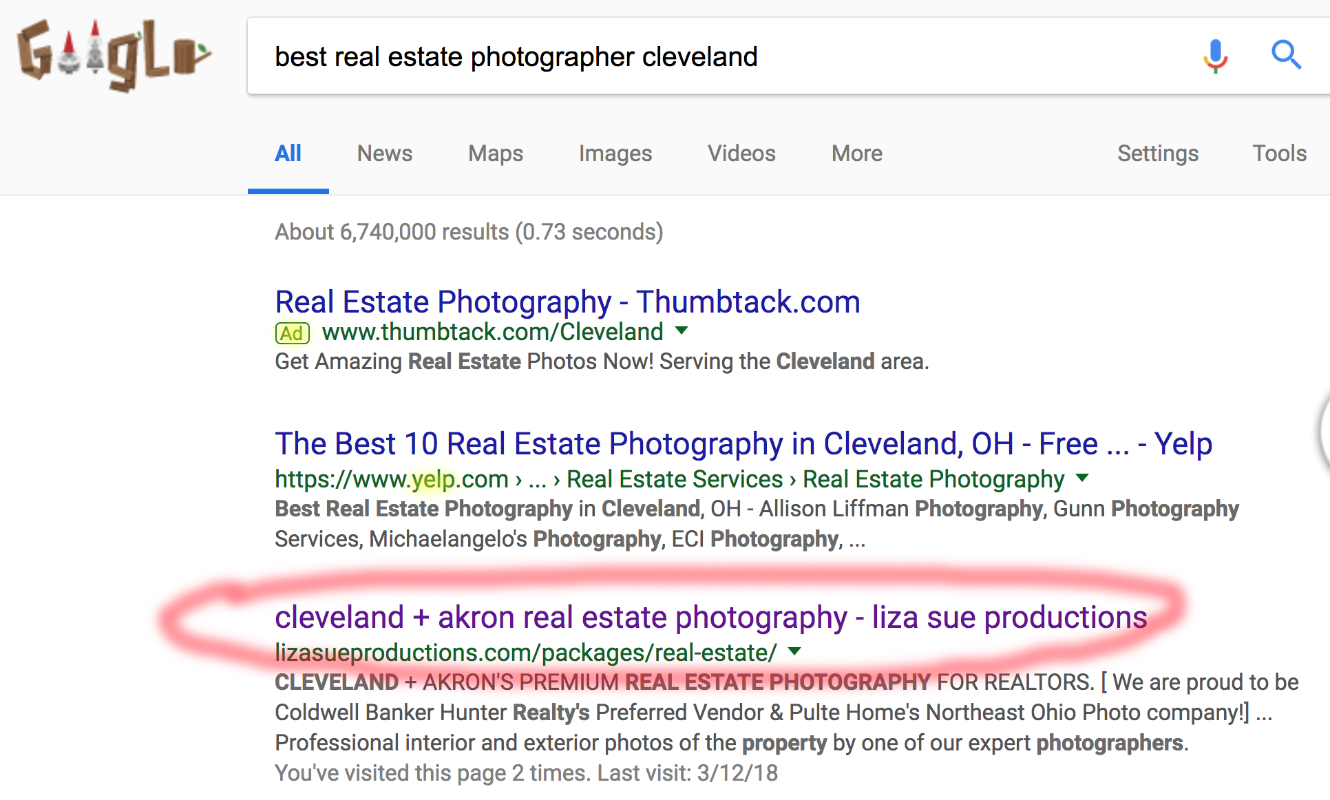 Hey that's us! Guess we're pretty good at this SEO stuff! #best Social Media Marketing Company Cleveland + akron