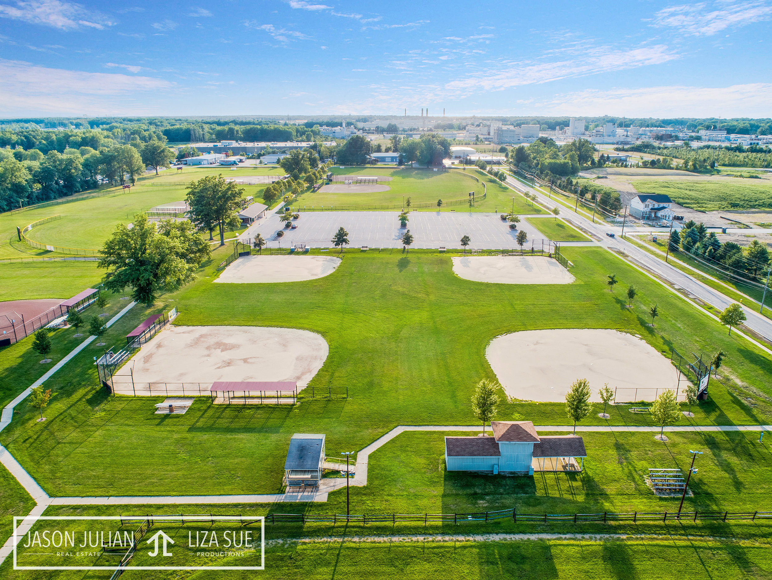 Cleveland + Akron Commercial Corporate Drone Aerial Photography Birds Eye
