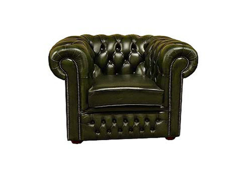 antique green Chesterfield sofa