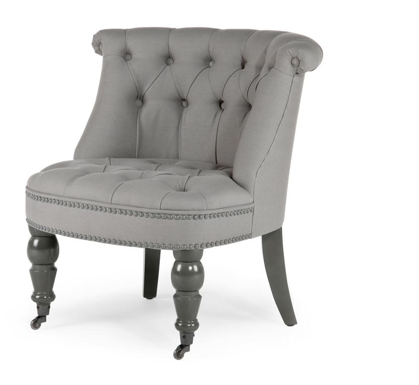 grey boudoir chair