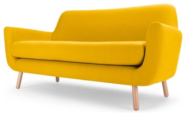 retro yellow sofa