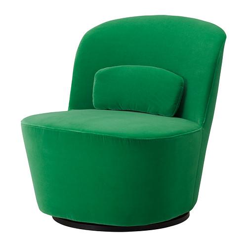 green velvet swivel chair