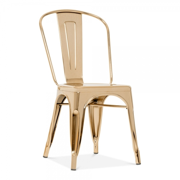 Cafe chair gold