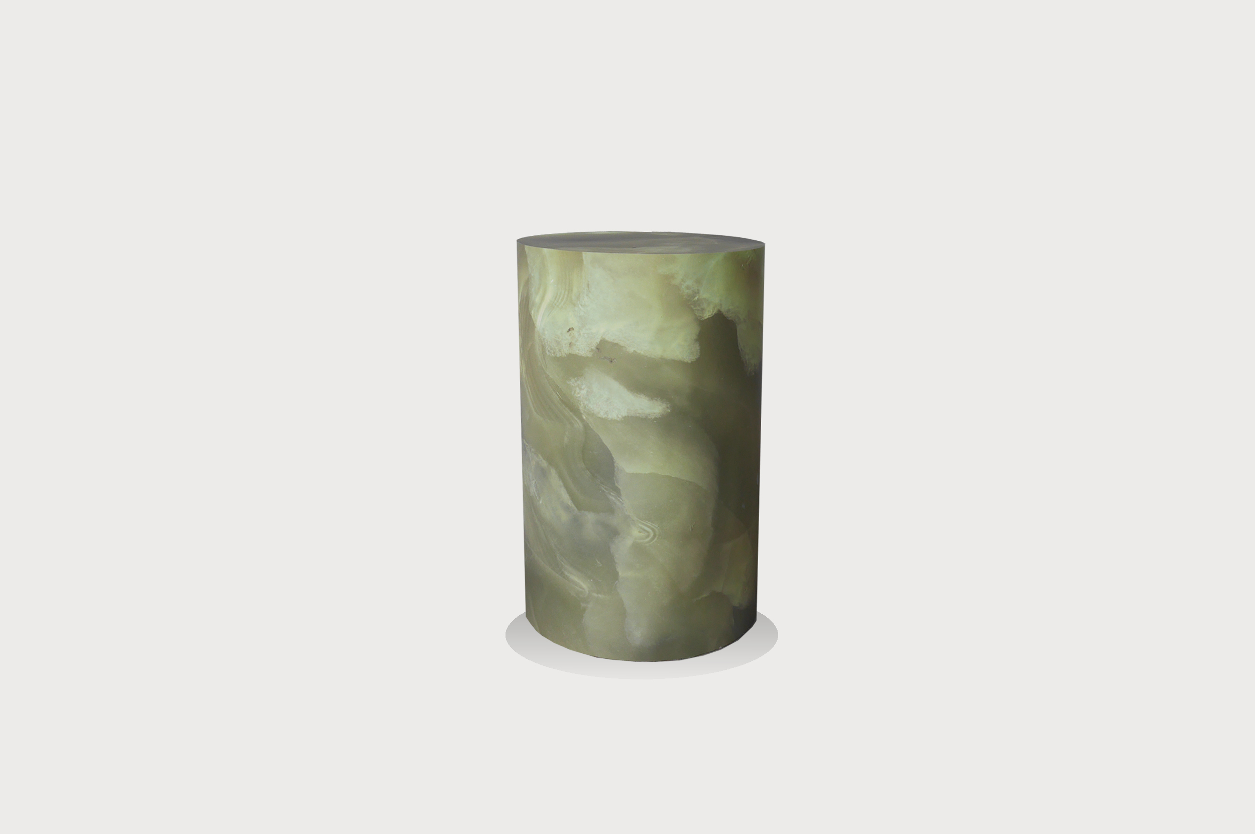 Green marble effect plinth
