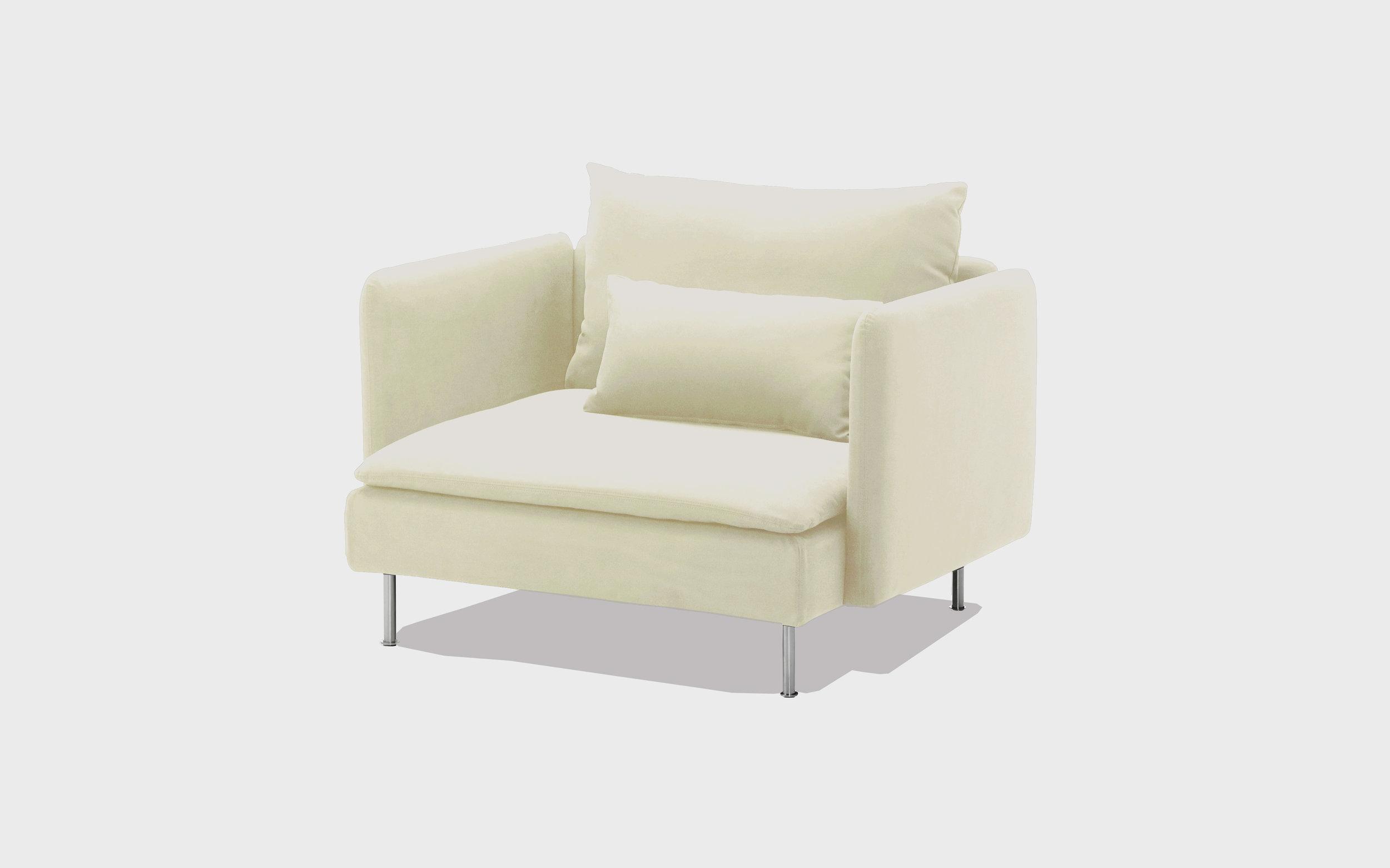 Natural cotton armchair