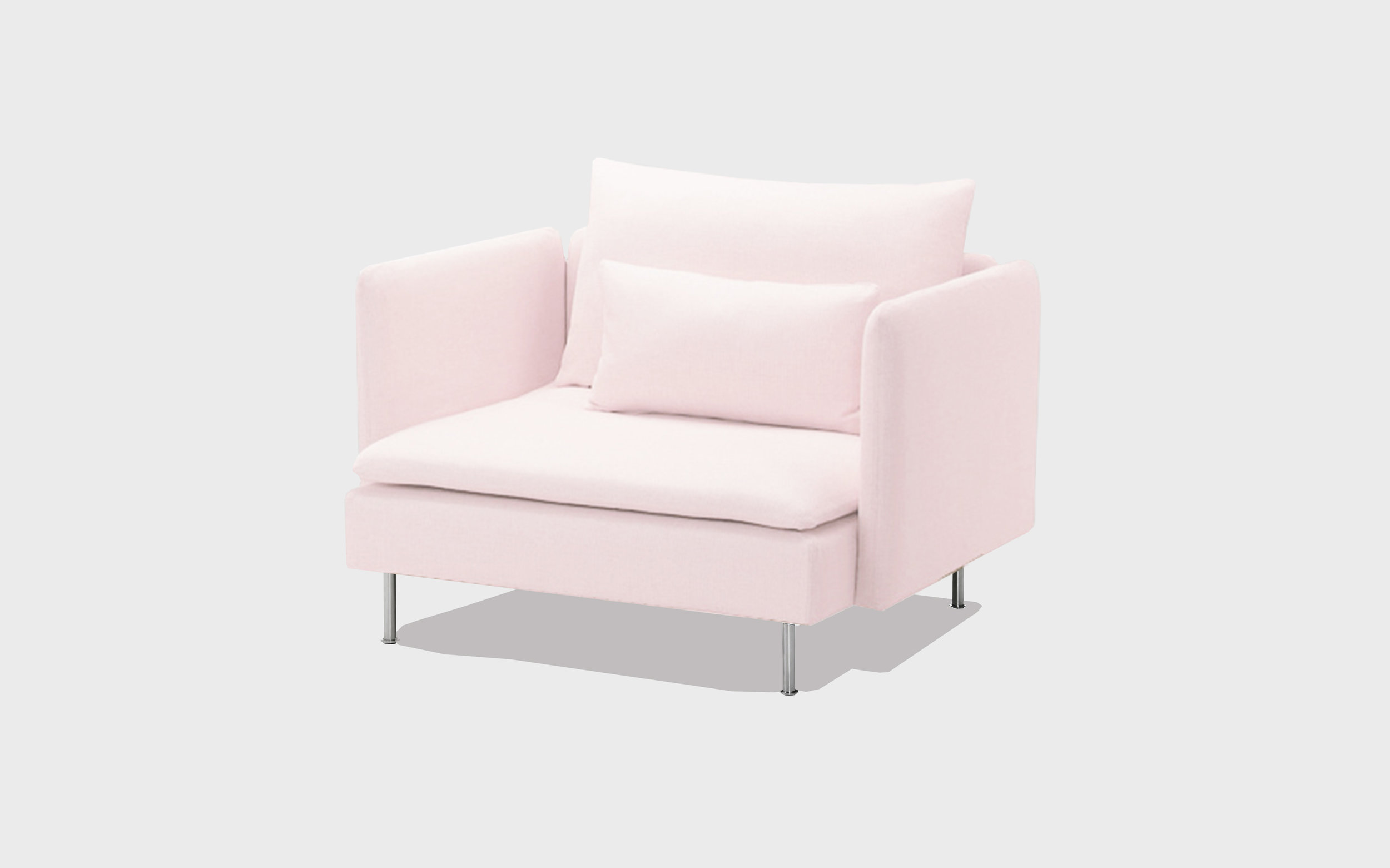 Pink cotton armchair