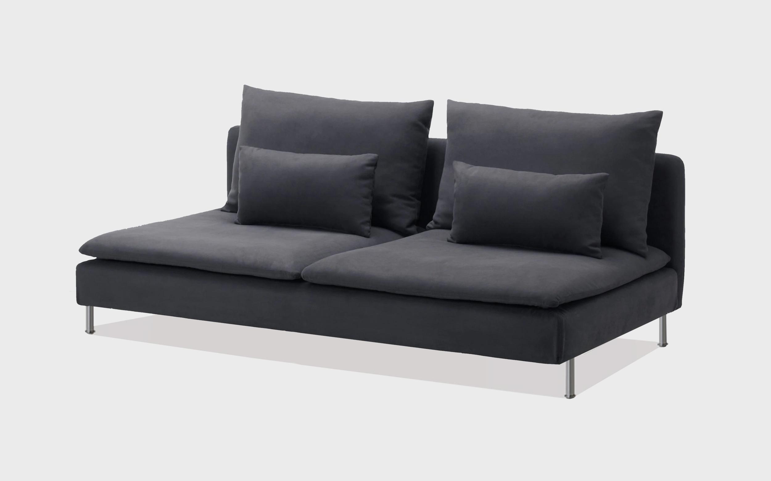 Grey cotton sofa