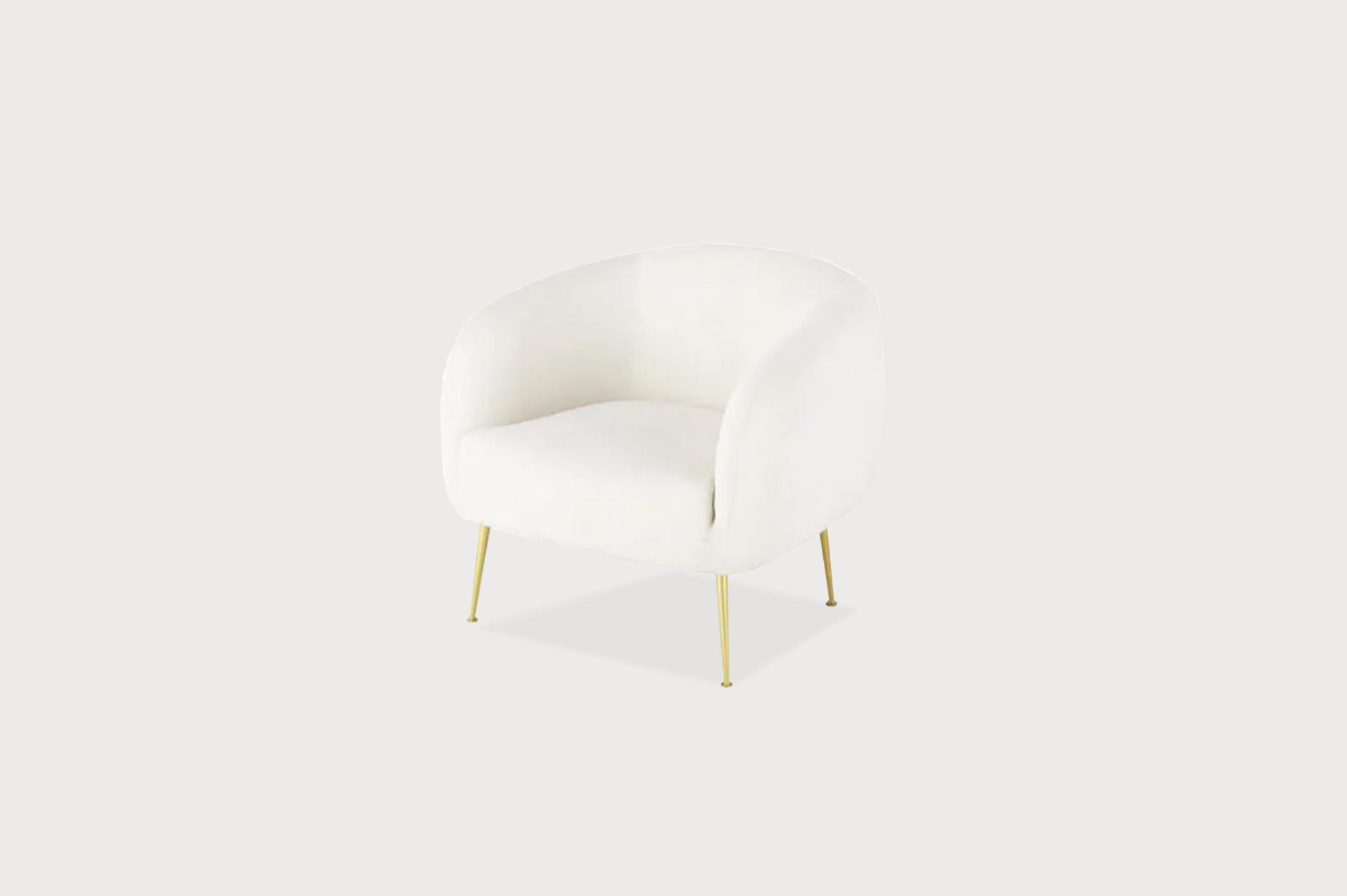 Velvet hub chair, white.png