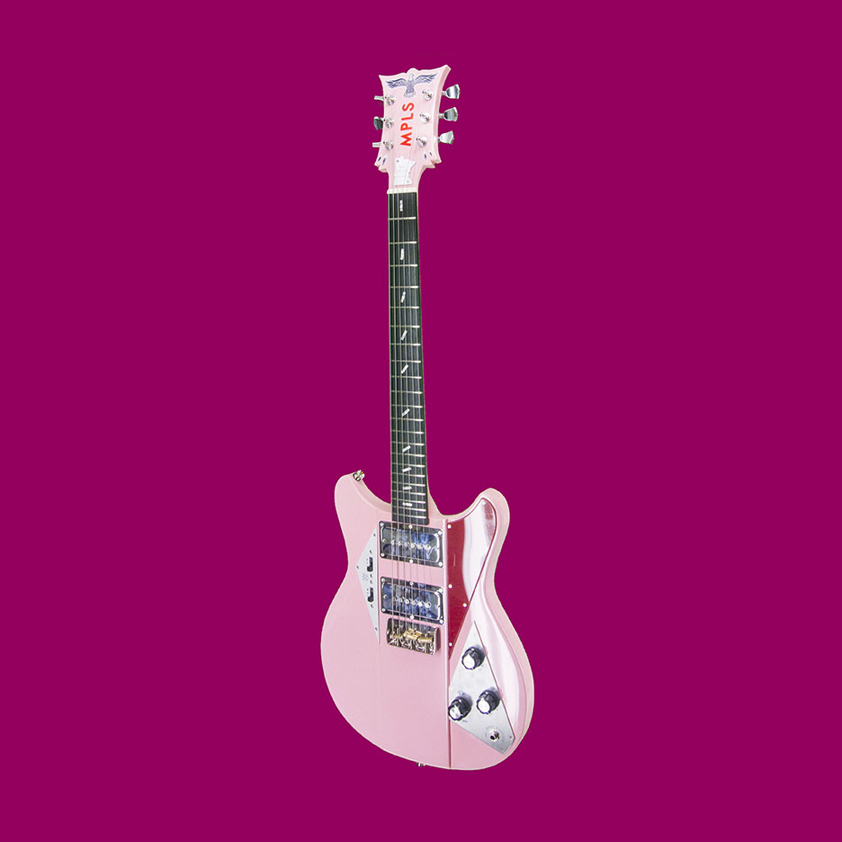 """24"""" Scale with house-made T-bird-style pickups - $2500 as shown w/ case."""