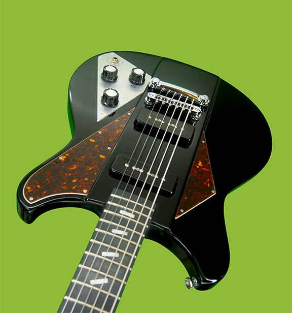 BLACK (shown here w/ Tortoise Shell pickgard options and pickup control switch delete)