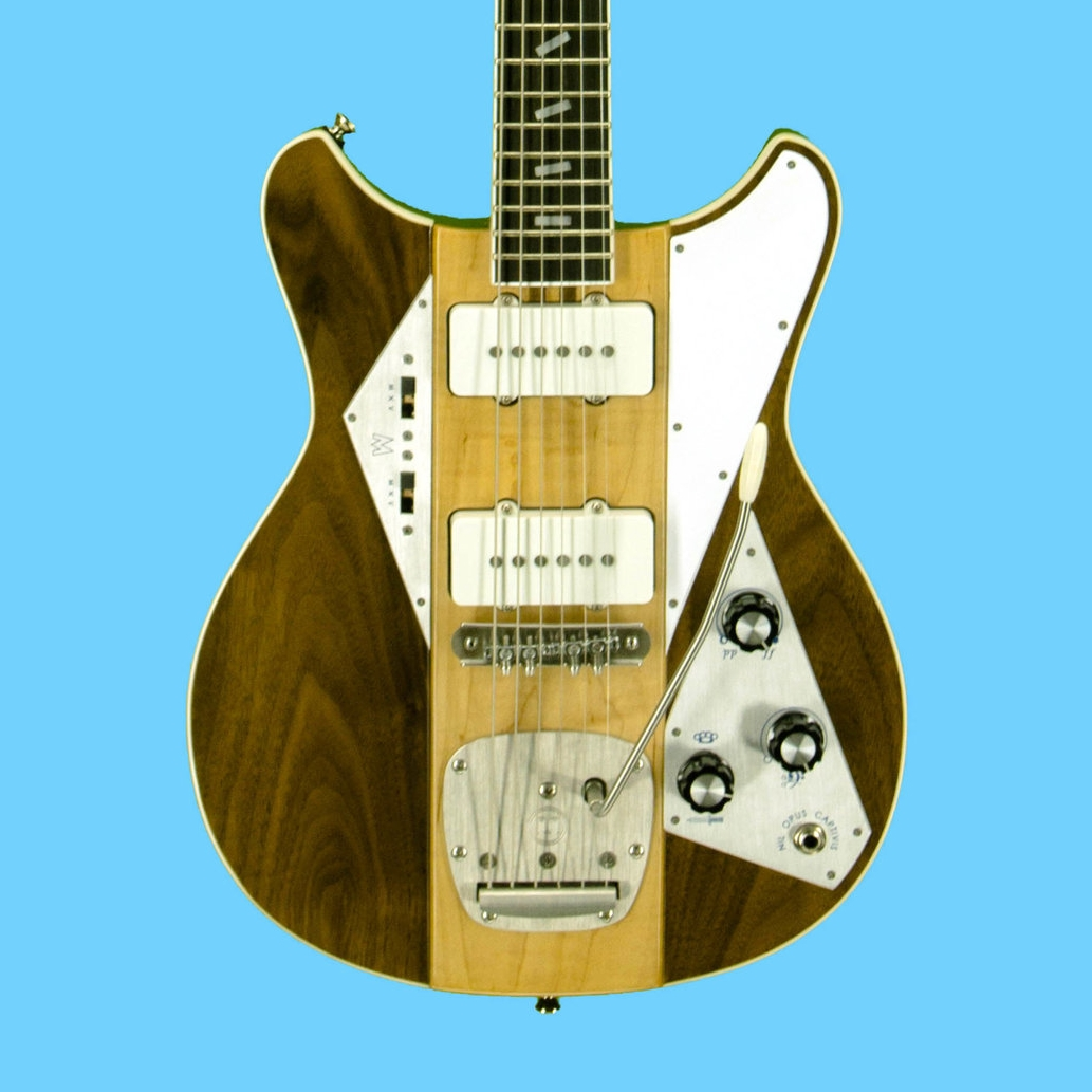 """25"""" Scale w/ """"JM""""-style pickups & Mastery hardware, $3225 as shown w/ case."""
