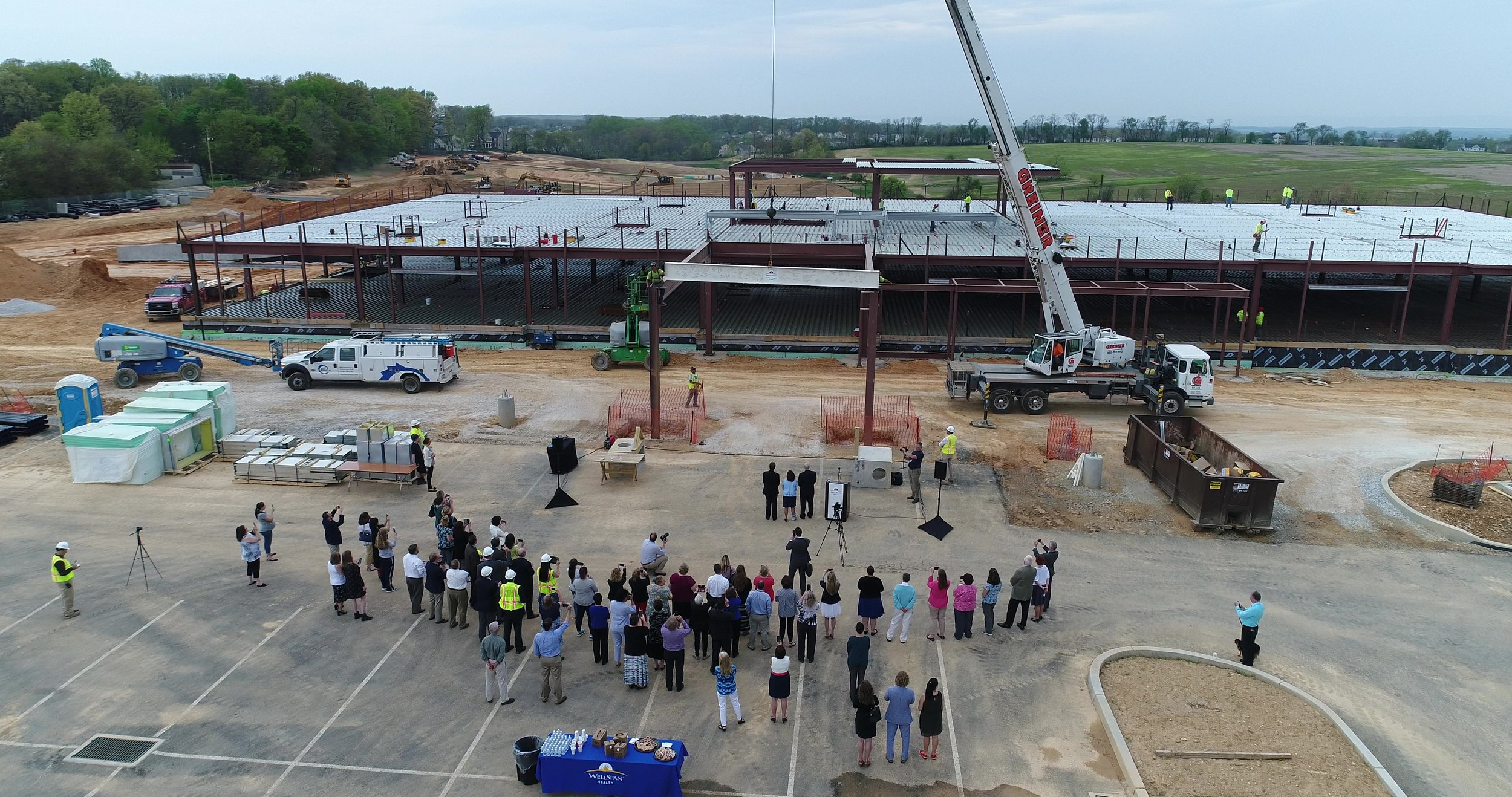 WELLSPAN HEALTH & SURGERY CENTER - Bass erected 650 tons of structural steel per AISC Code of Standard Practice for the new Wellspan Health & Surgery Center in Hanover, PA.