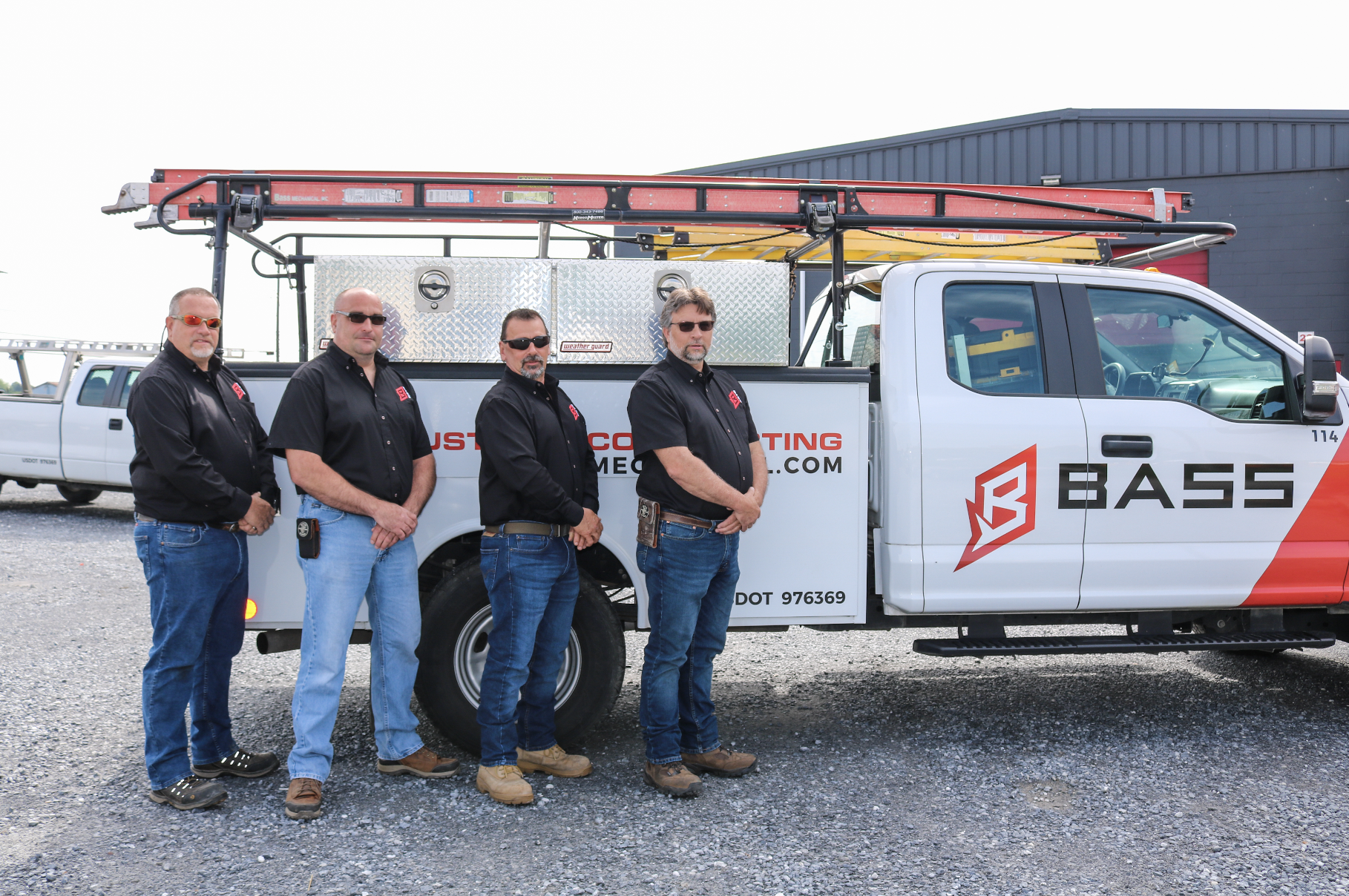 Bass' Electrical Management Team - From Left to Right: Bud Lyons, Rob Wenger, Michael Gehman, and Kevin Hackman.