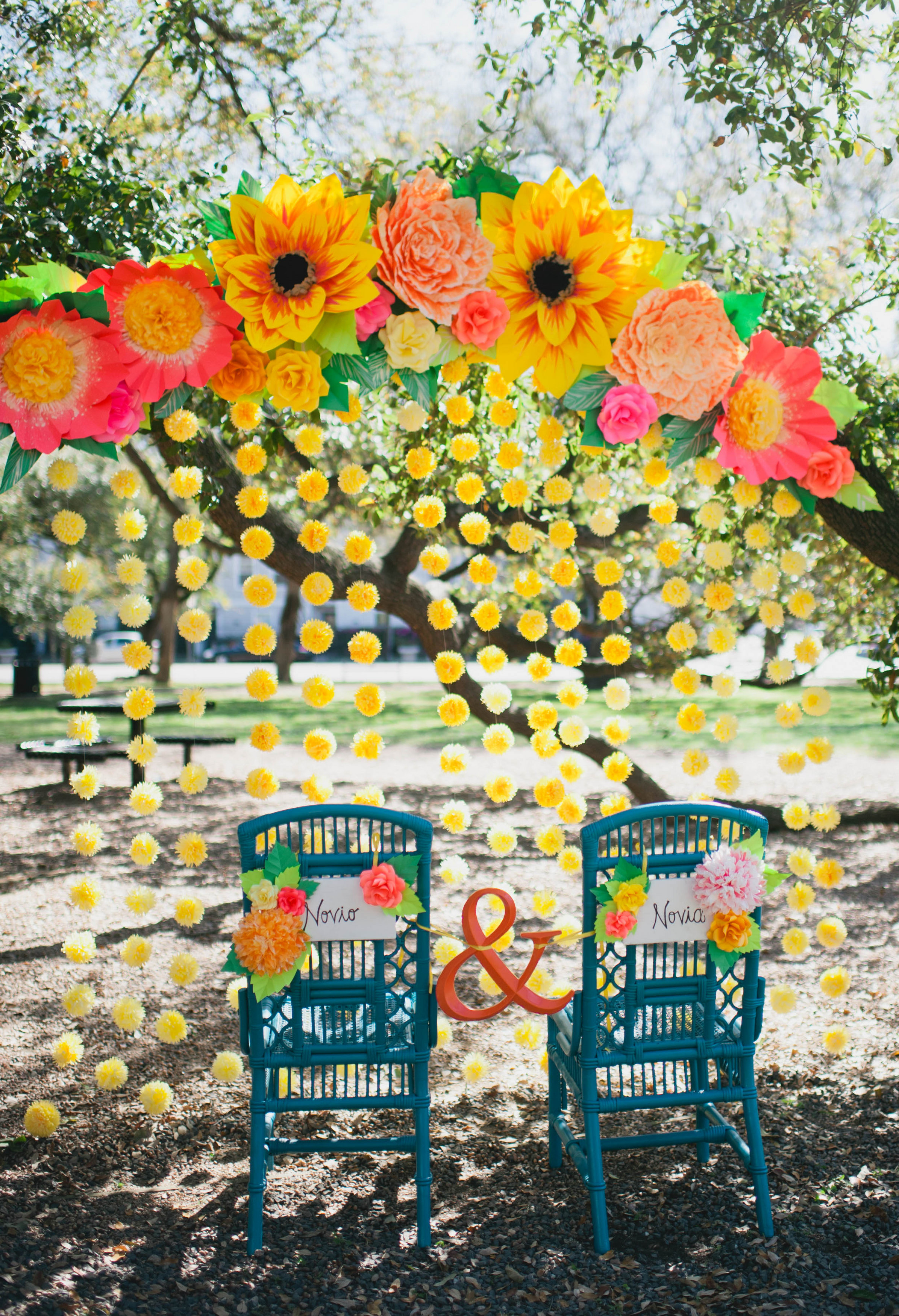 Mexican Fiesta Wedding Paper Flowers