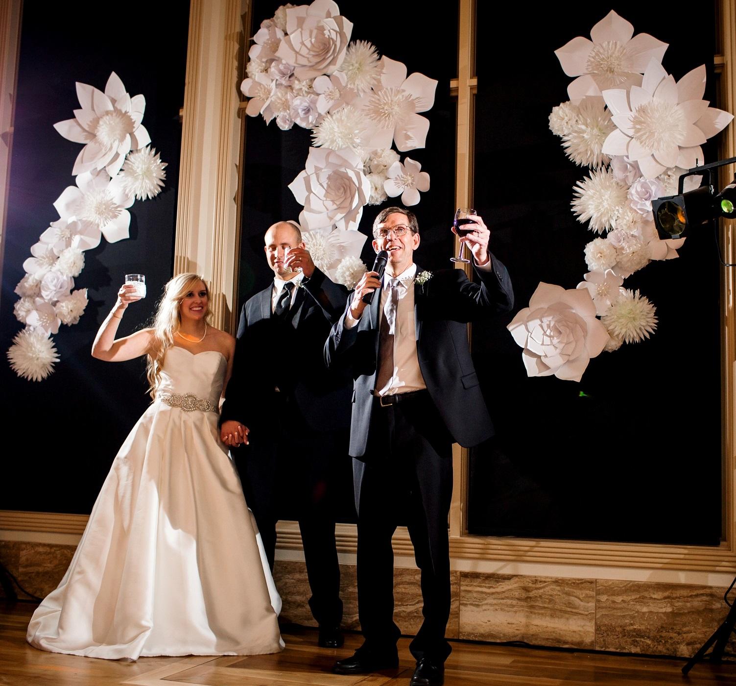 Wedding Decorations Large White Paper flowers.jpg