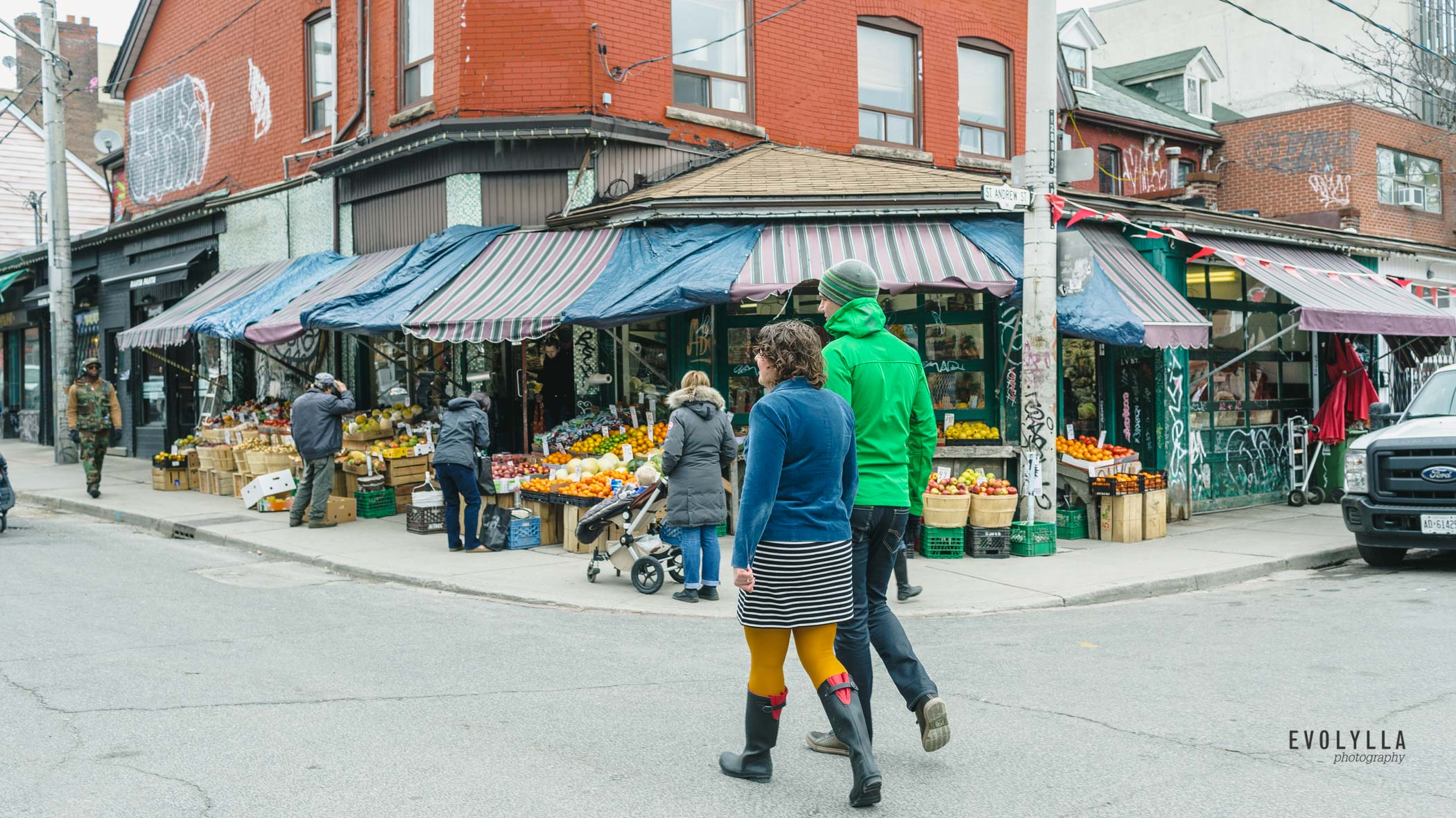 Kensington Market Engagement Photography
