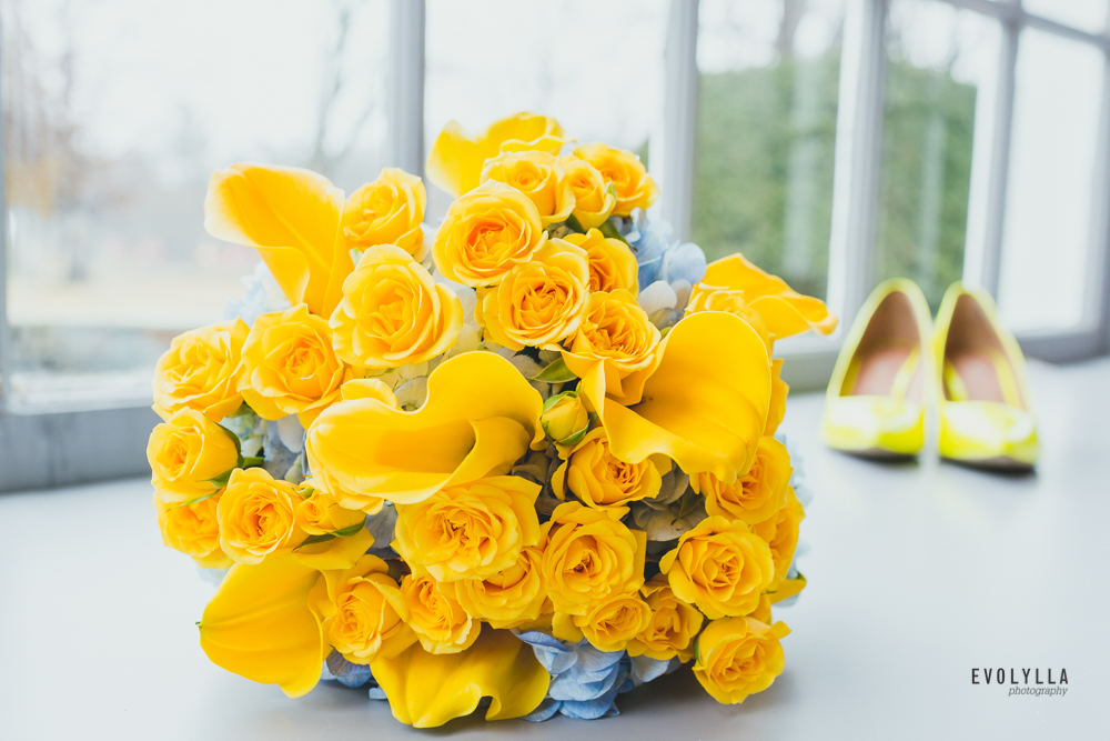 Yellow Wedding Bouquet Wedding Shoes Happy Bright Colours