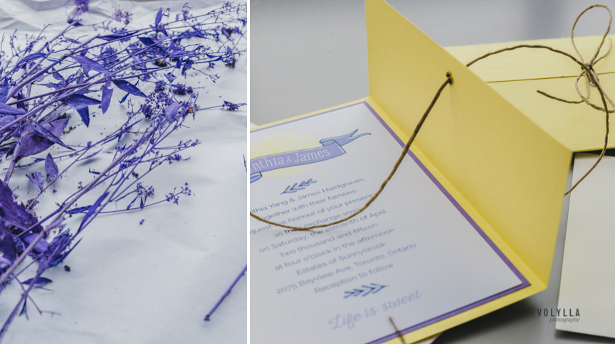 Lavender Wedding Invitation Design Rustic Summer