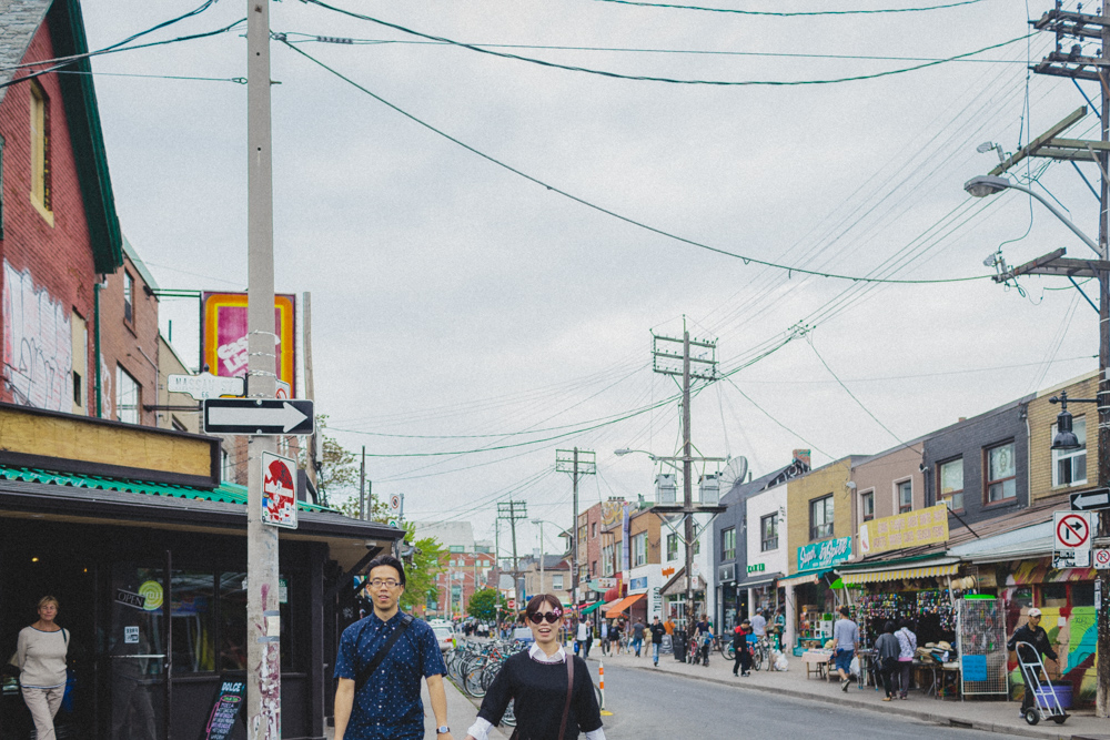 Natural Engagement Photos in Kensington Market