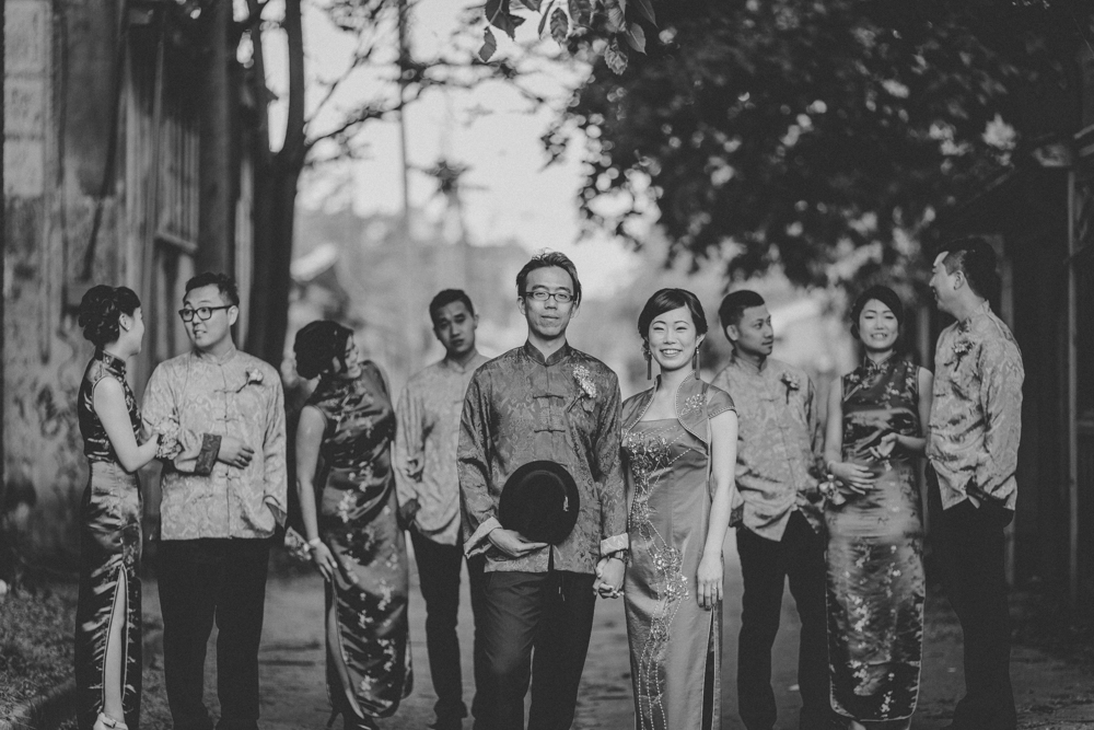 Traditional Chinese Wedding Creative Bridal Party Photos