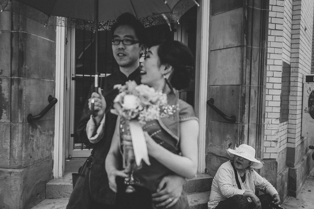 Bride and Groom in Traditional Chinese Wedding Customs