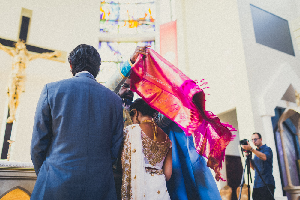 Manthrakodi or the wedding sari is a gift to the bride from the groom and his family symbolizing him as her provider