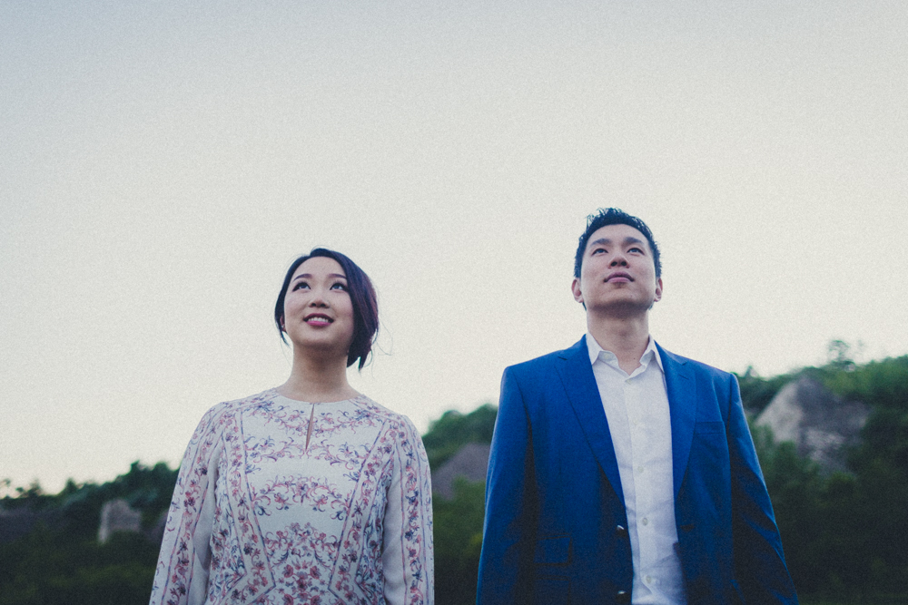 Quirky  Alternative Couple Portraits Blue Hour Engagement Photos