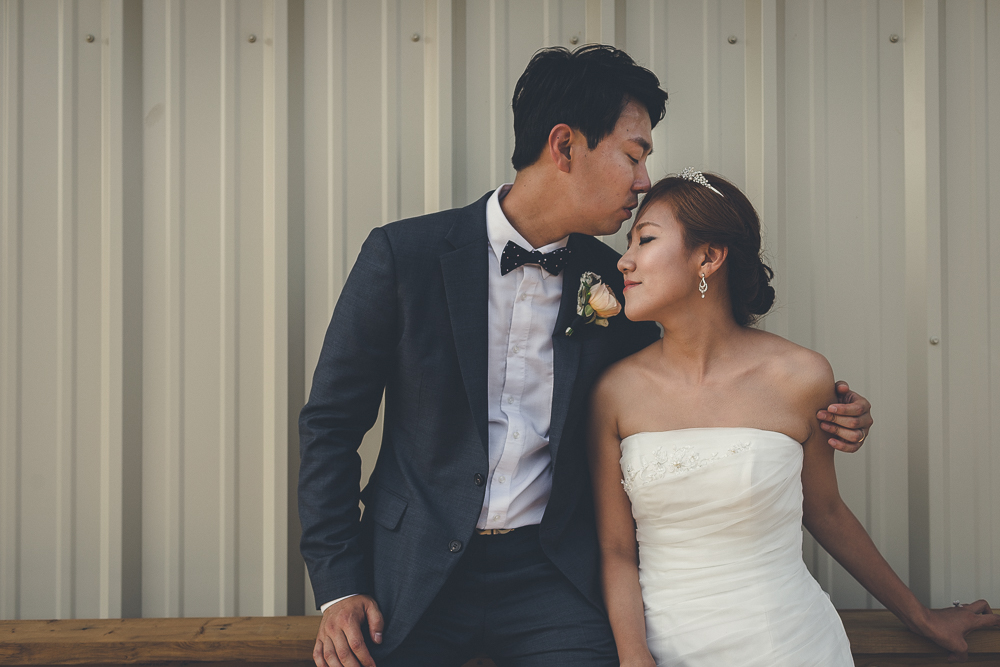 Barn Wedding Bride and Groom Pictures New Eden Church King City