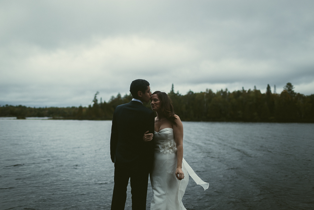 Cottage Wedding Bride and Groom Portrait